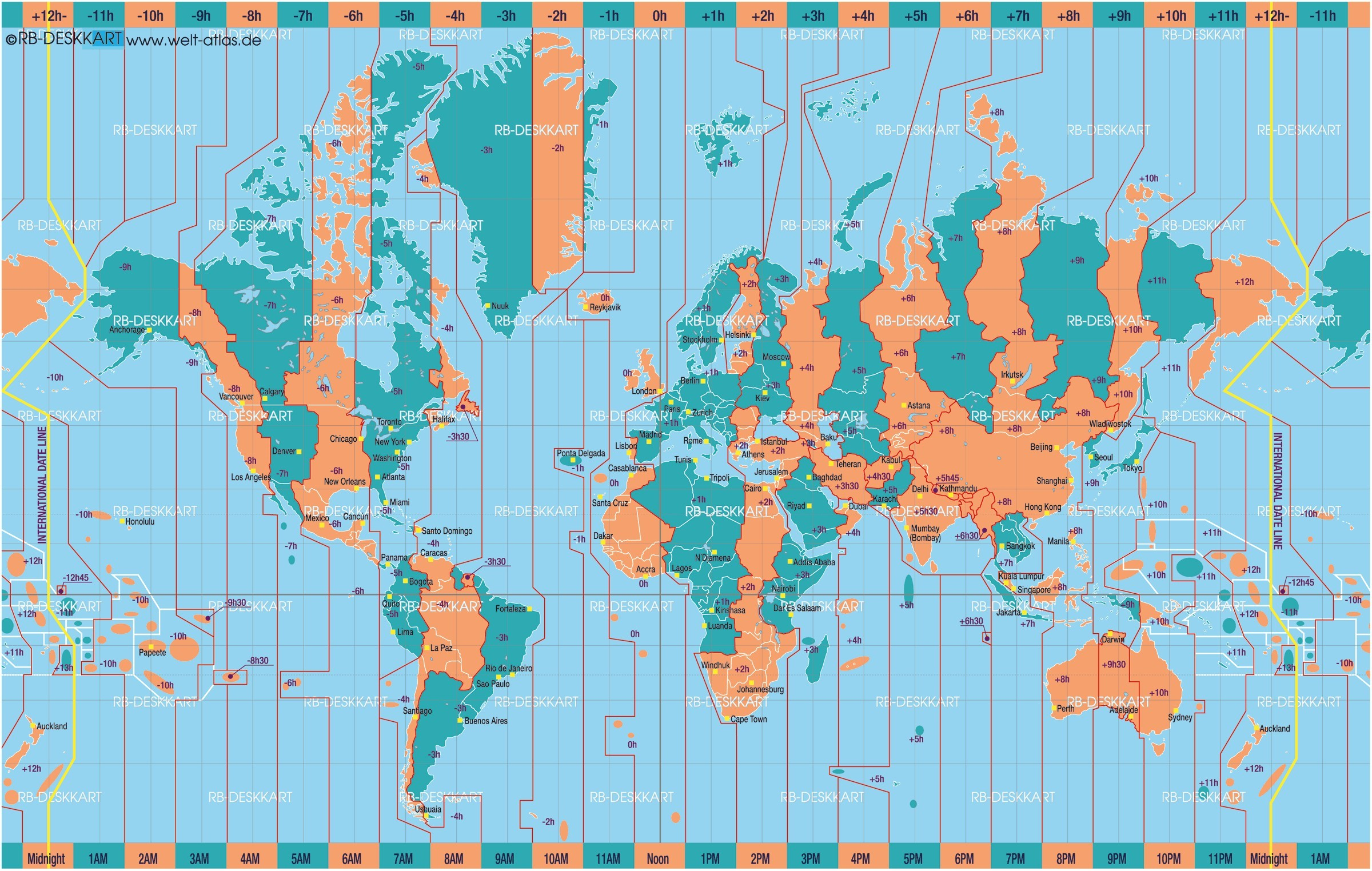 2400x1524 World Map Time Zones International Date Line Atlas And Maps Online Globes  Of The Worldmaps Within