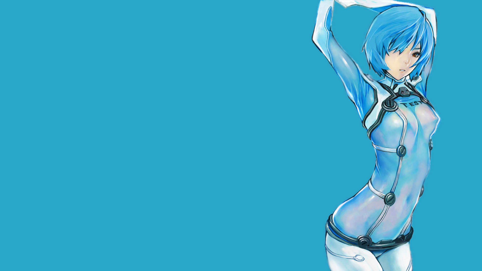1920x1080 Ayanami Rei Neon Genesis Evangelion simple background wallpaper |   | 193422 | WallpaperUP
