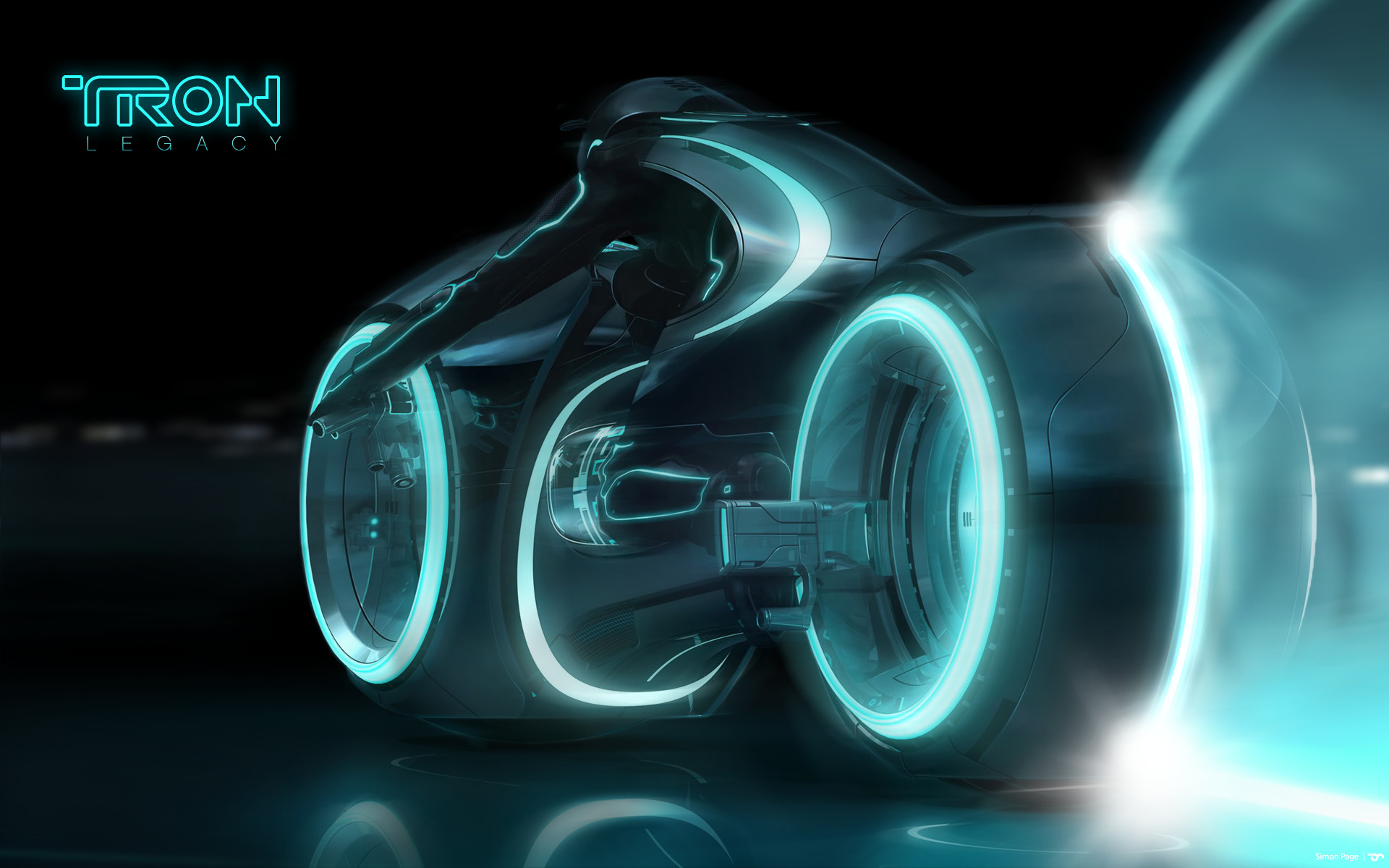 1920x1200 Blue Light Cycle from Tron: Legacy wallpaper - Click picture for high  resolution HD wallpaper