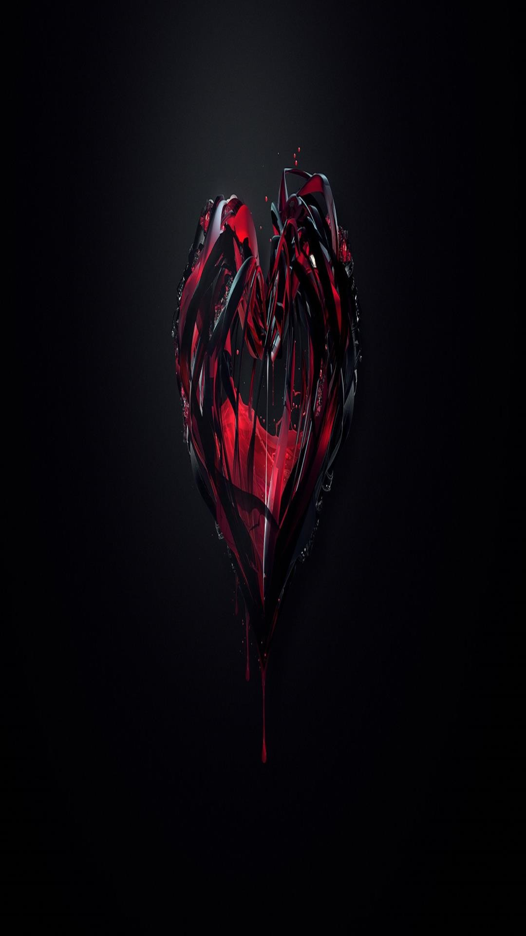 Black and Red Heart Wallpaper (61+ images)