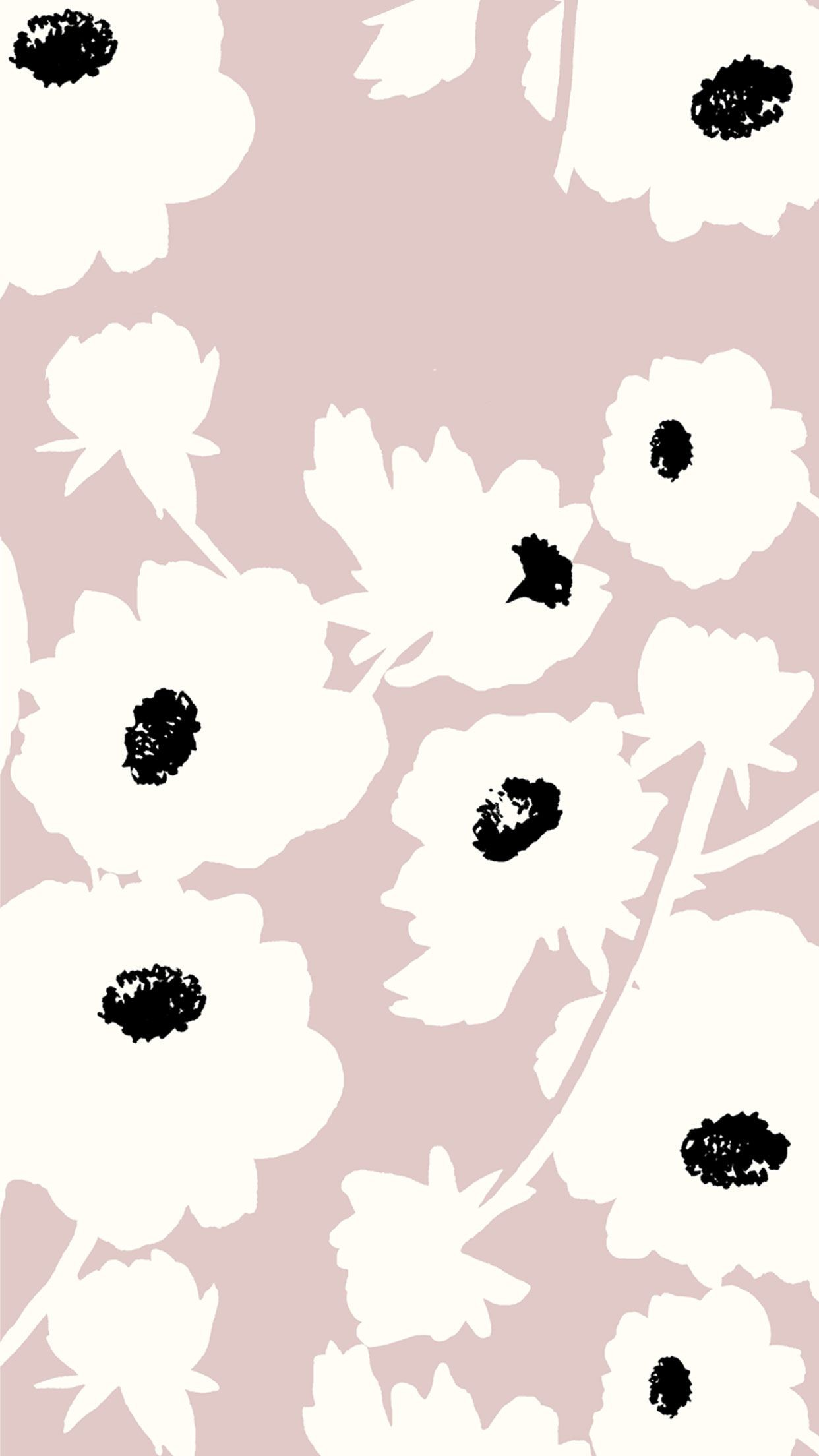 1242x2208 Pale poppy wallpaper