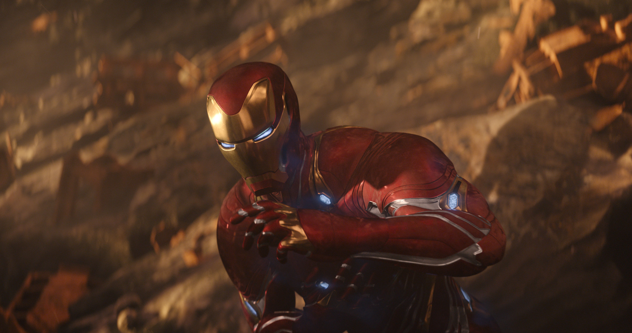2048x1080 Iron Man New Suit For Avengers Infinity War 2018