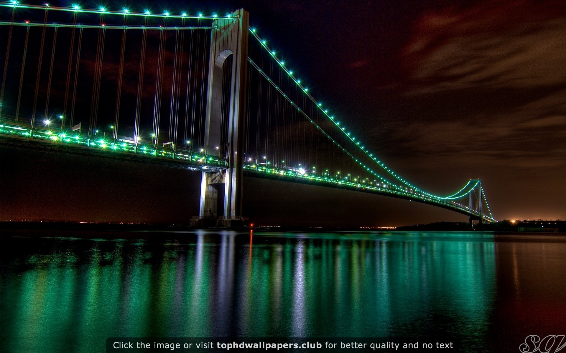 1920x1200 The Golden Gate Bridge Night View HD wallpaper for your PC, Mac or Mobile  device