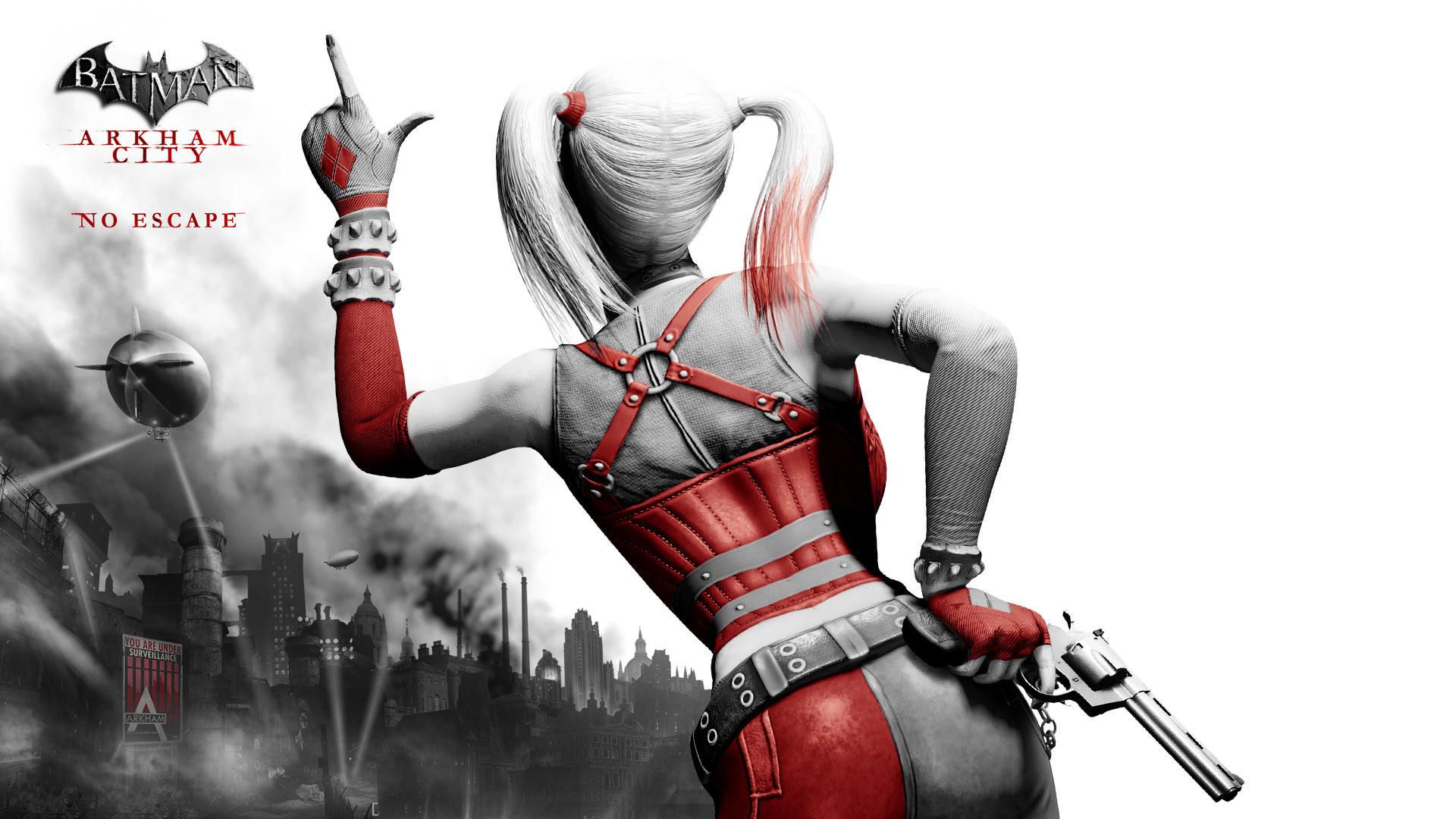 Harley Quinn Arkham City Red ad White by douglasneto7 on