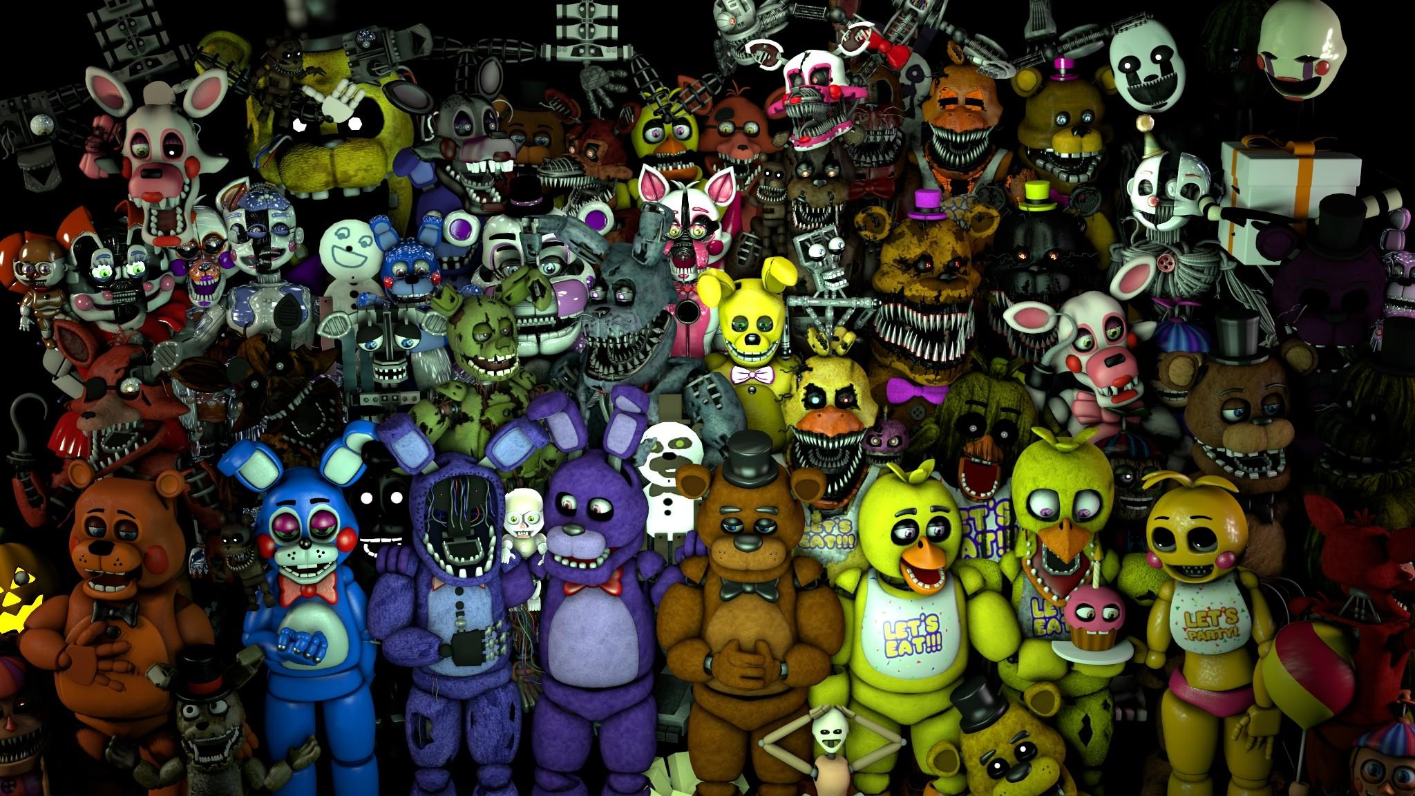 Fnaf All Characters Wallpaper (80+ images) | 2048 x 1152 jpeg 683kB