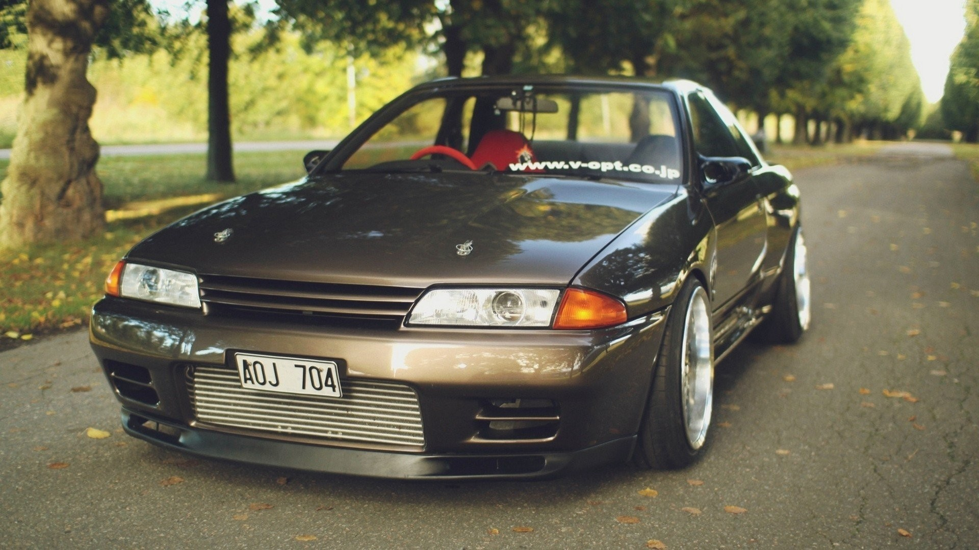 1920x1080 Cars Roads Tuning Tuned Nissan Skyline R32 GT R Stance JDM  Japanese Domestic Market