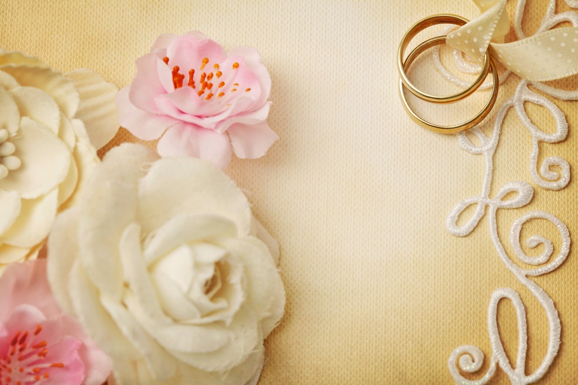 1920x1280 wedding background flowers ring lace soft wedding flower rings