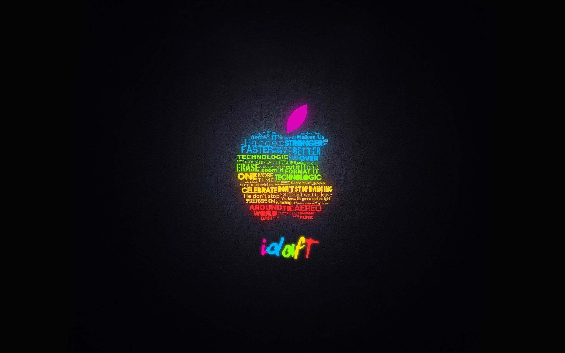 1920x1200 Apple In Words HD Desktop Wallpaper, Background Image