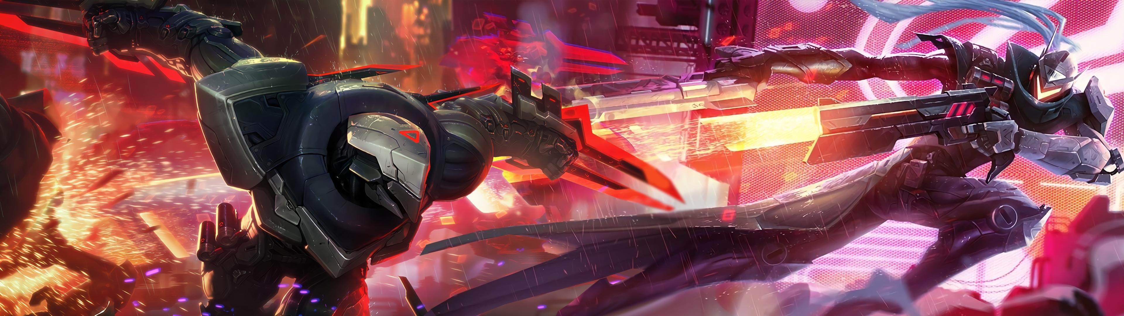 3840x1080 League Of Legends Project Zed Wallpapers Desktop Background