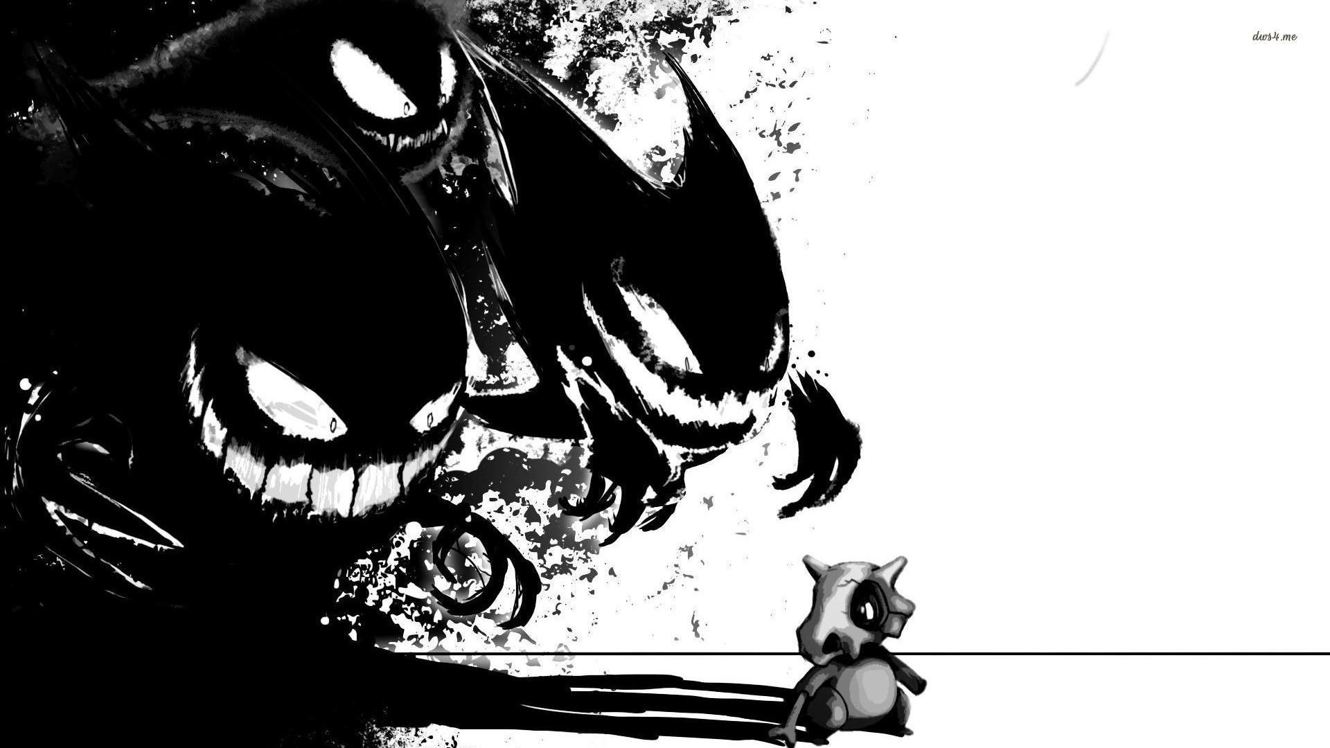 1920x1080 Dark Gengar and Cubone in Pokemon wallpaper - Game wallpapers - #43918