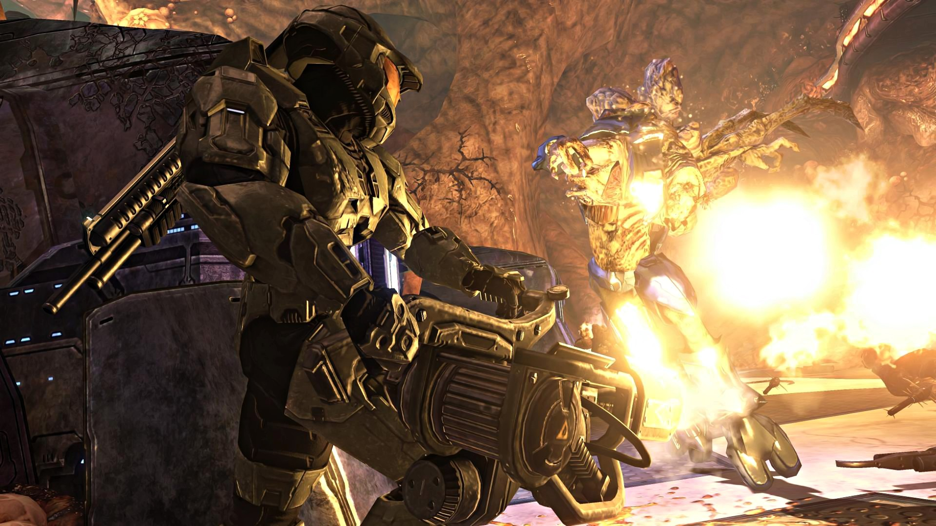 1920x1080 Image - Halo-3-Wallpaper-CORTANA-chapter-1080p-16-MASTER-CHIEF-FLAMETHROWER.jpg  | Deadliest Fiction Wiki | FANDOM powered by Wikia
