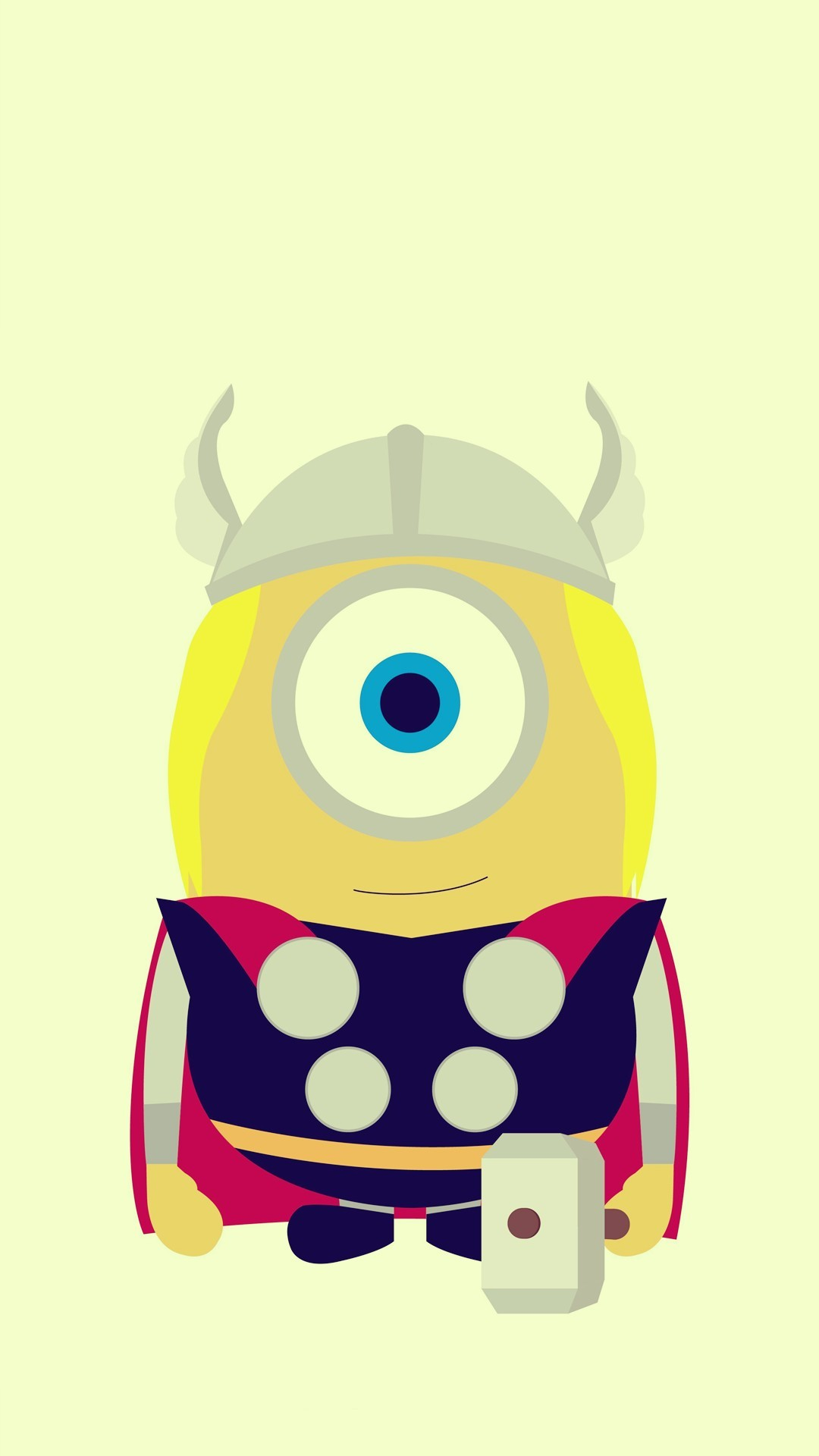 1080x1920 Funny Thor Minion Avengers iphone 6 plus wallpaper HD - 2014 Halloween,  Despicable Me #