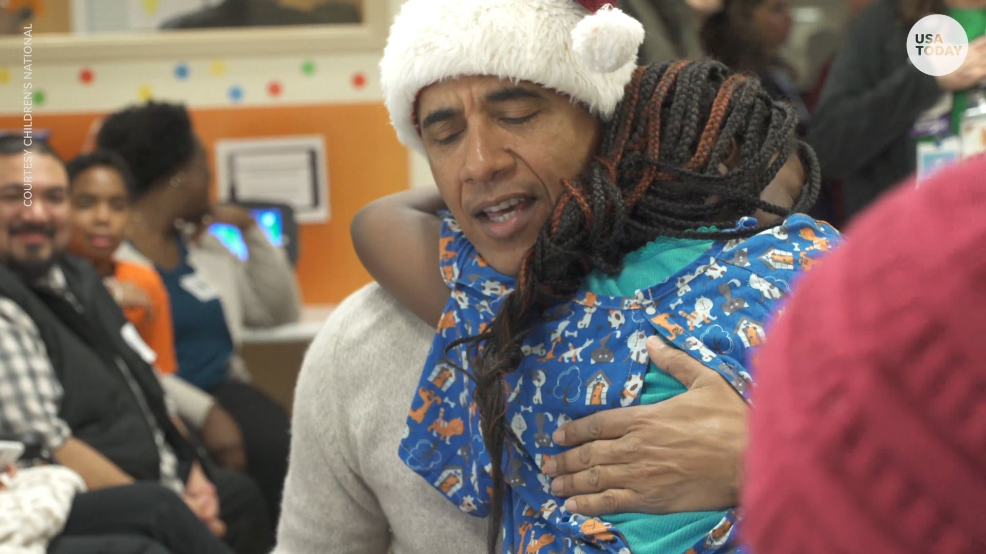 1920x1080 Former President Obama surprises children at DC hospital