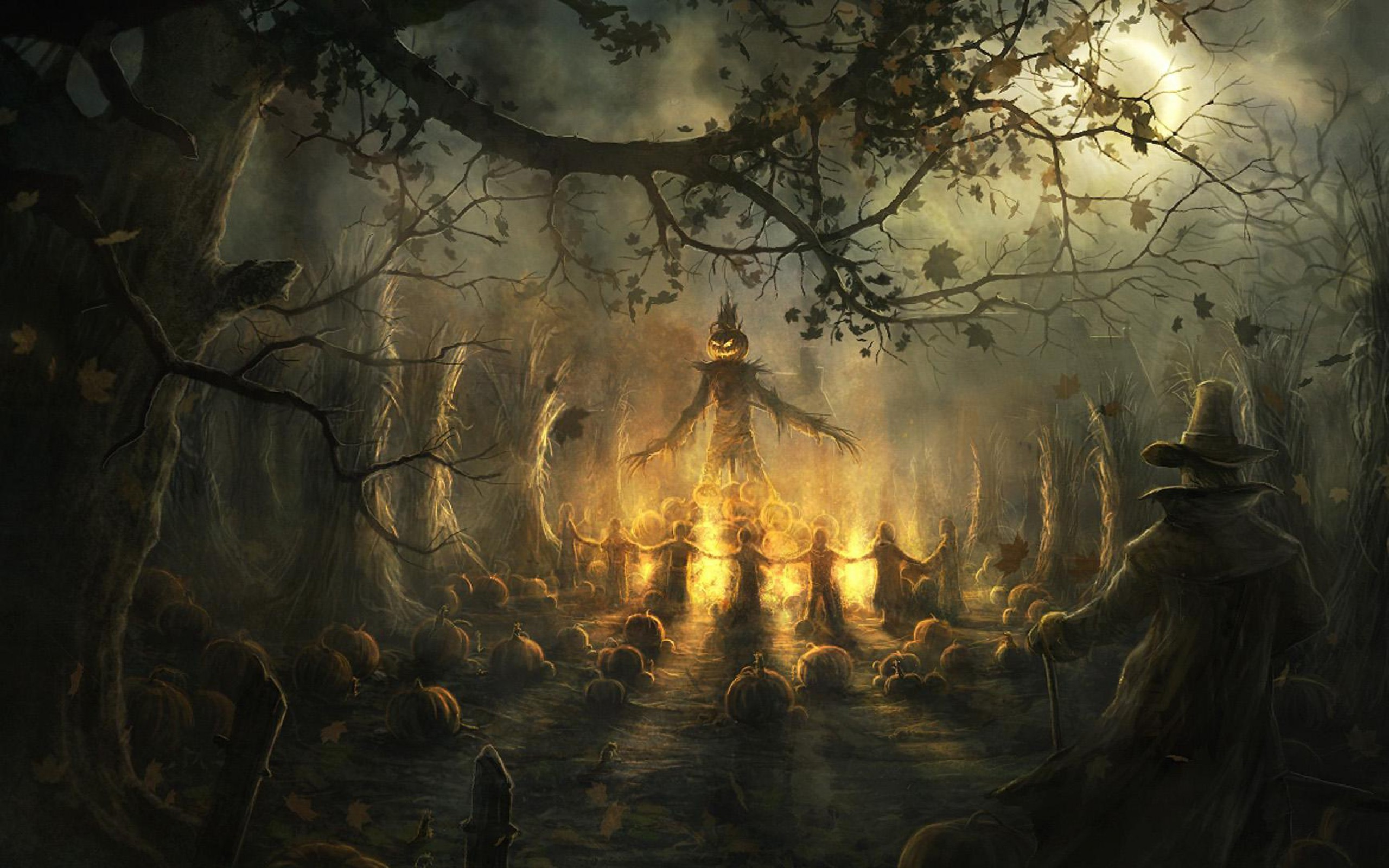 2560x1600 Halloween scarecrow wallpaper widescreen desktop mobile iphone android hd  wallpaper and desktop.