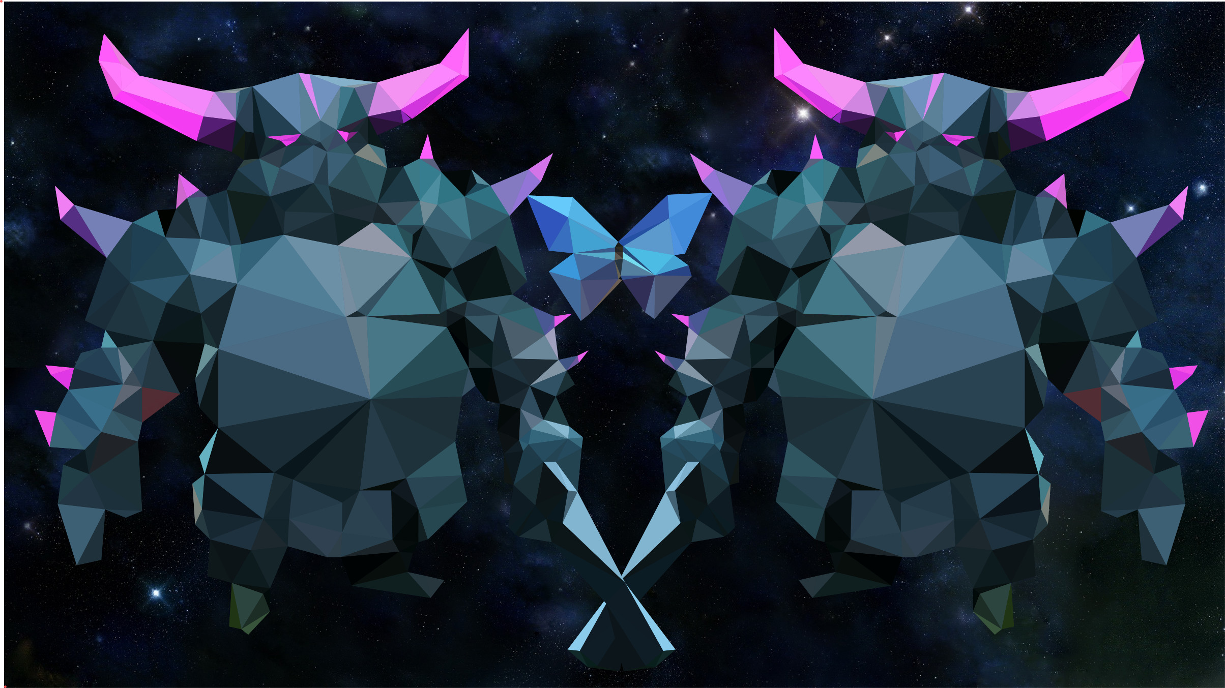 2408x1353 Art[Art]-Low Poly PEKKA Wallpaper ...