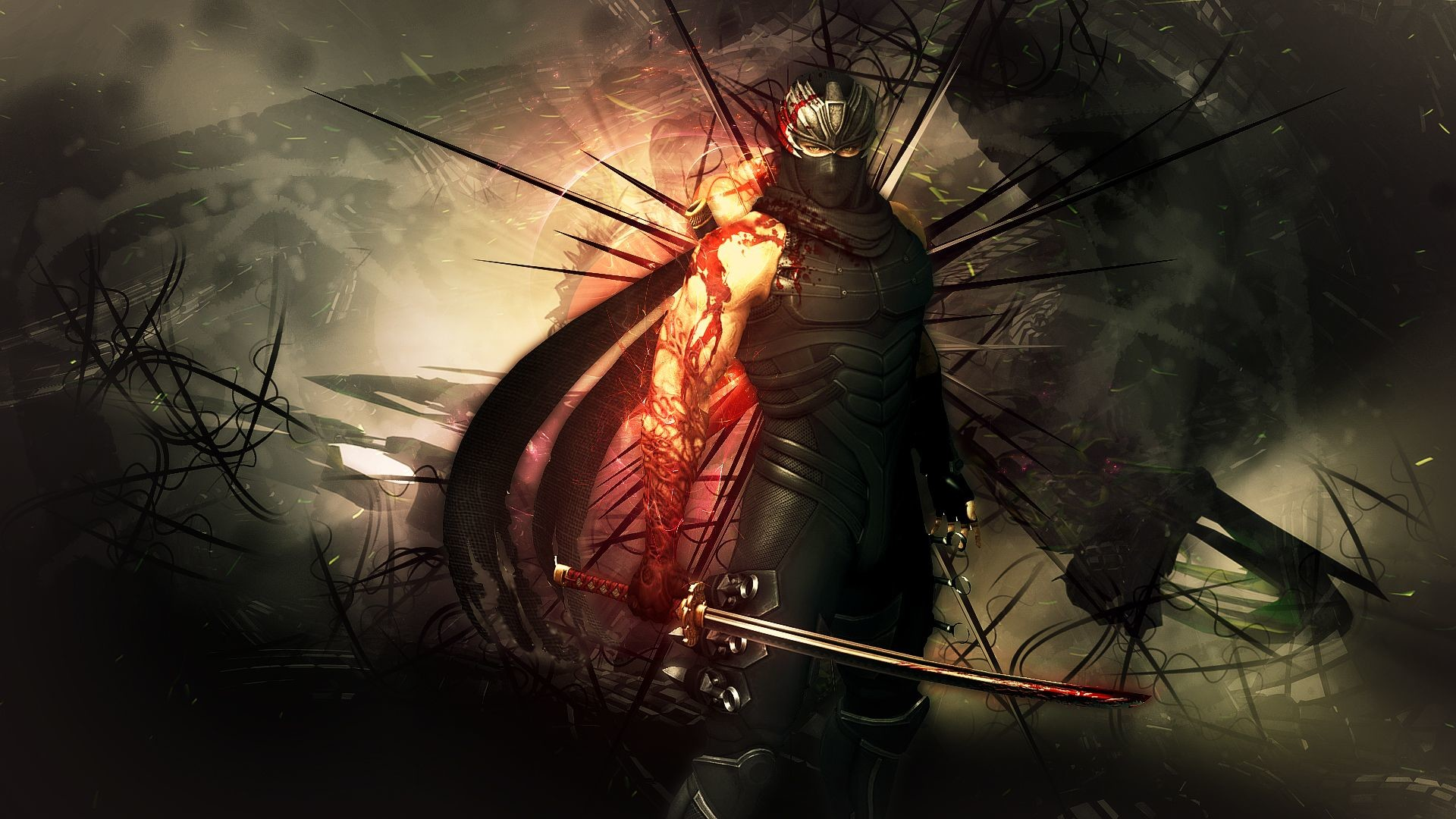 1920x1080 NINJA GAIDEN fantasy anime warrior weapon sword blood f wallpaper .