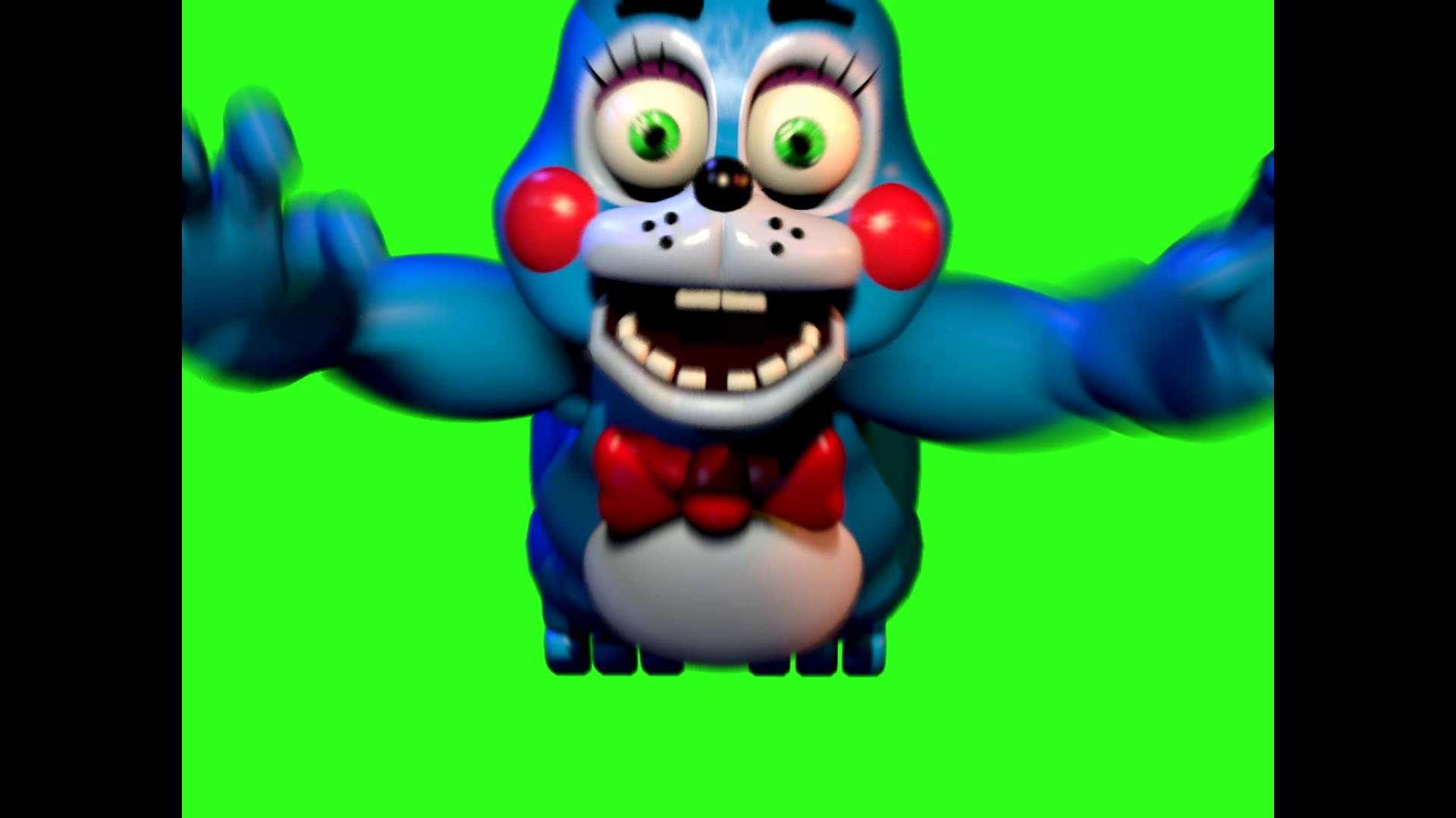 1920x1080 Five Nights at Freddy's 2 Toy Bonnie Jumpscare Green Screen (If you use it  give me credit in desc) - YouTube