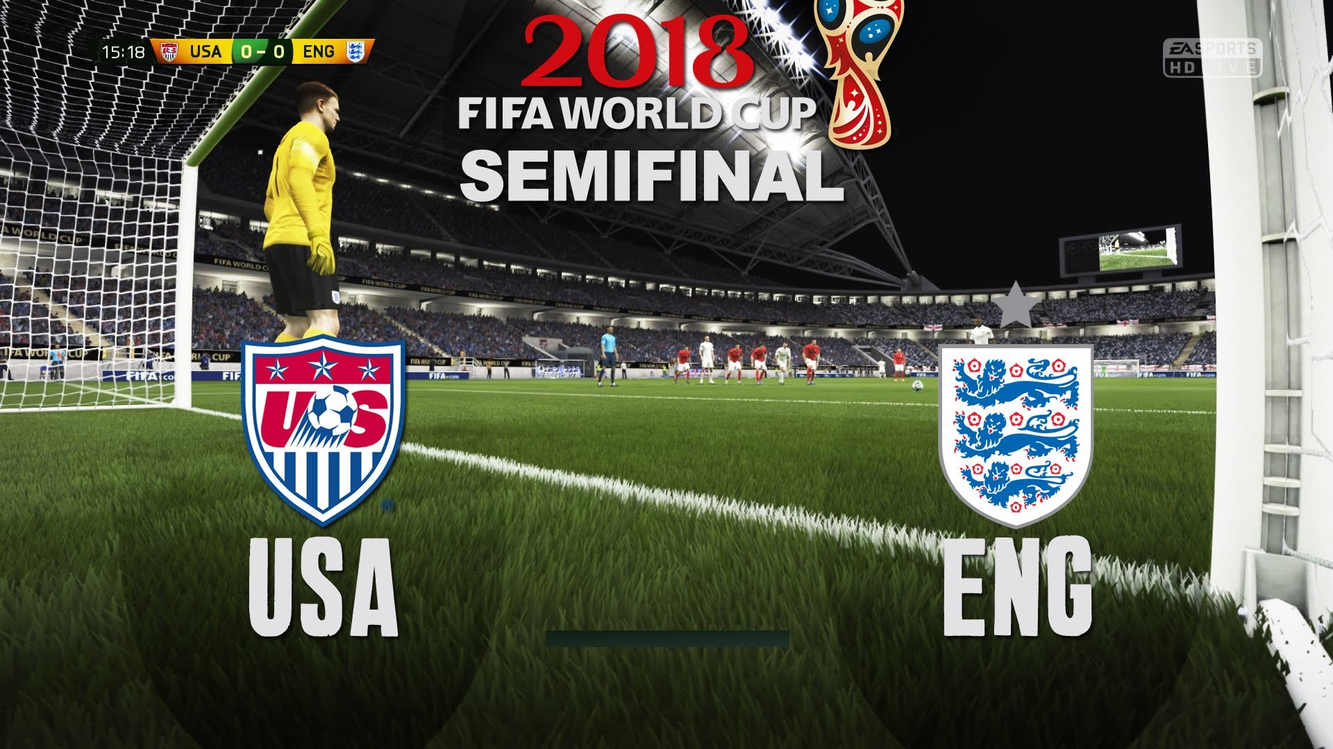 1920x1080 World Cup 2018 - USA vs England - Semifinal Match #6 - FIFA Gameplay