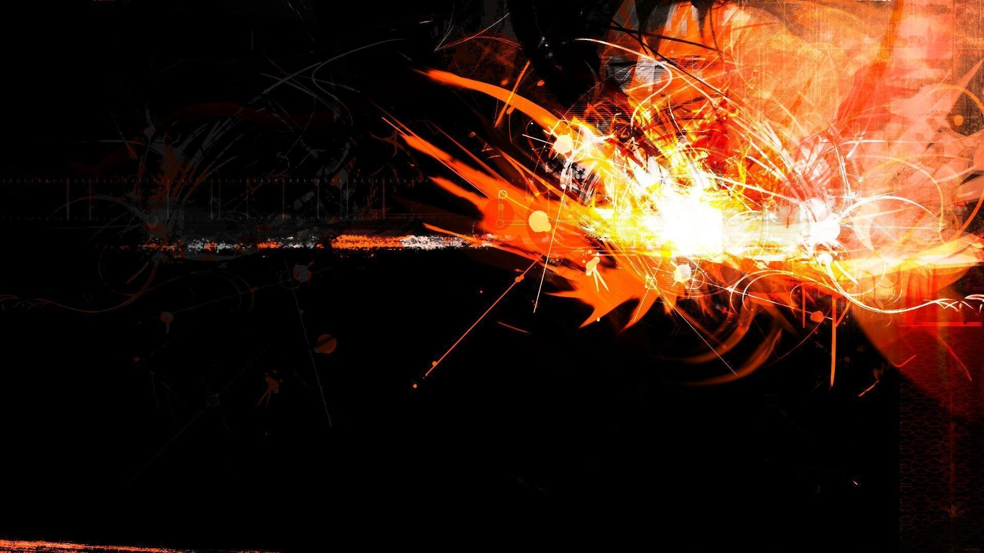 1920x1080 Cool Orange Abstract