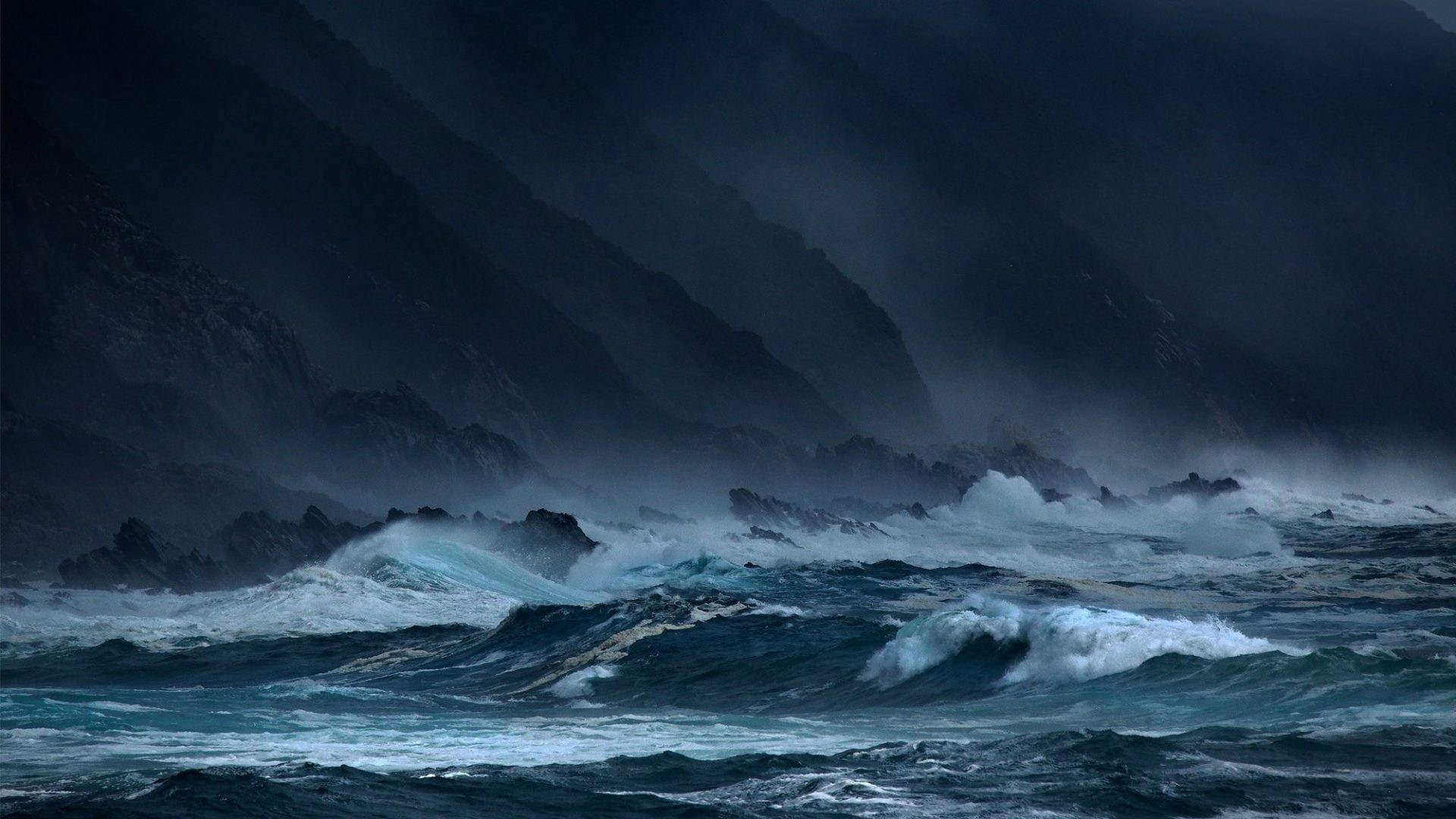1920x1080 Sky Clouds Sea Rain Waves Ocean Weather Nature Storm Hd Download - 2000x1333