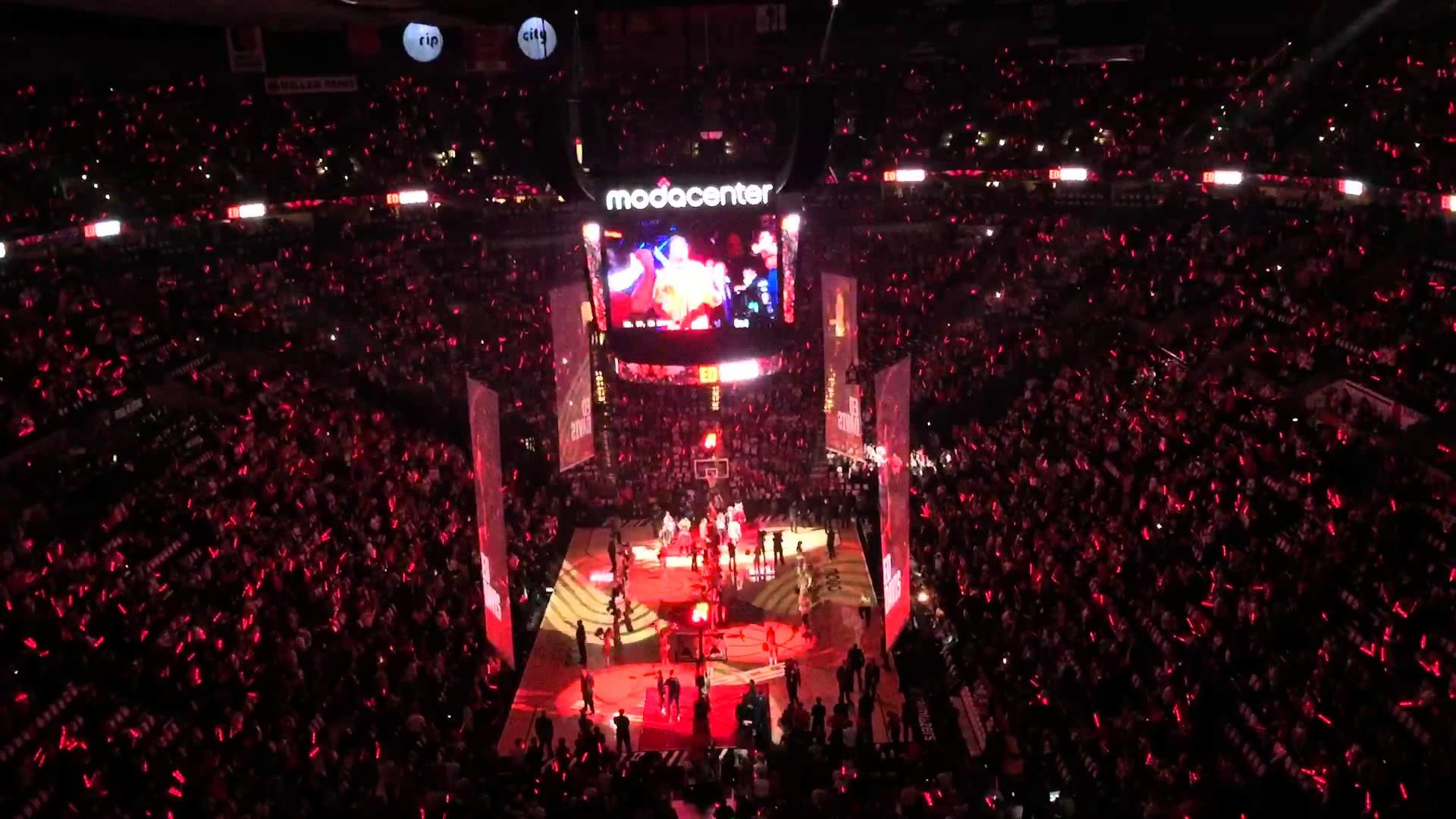 1920x1080 2015-16 Portland Trail Blazers Season Opener Introductions