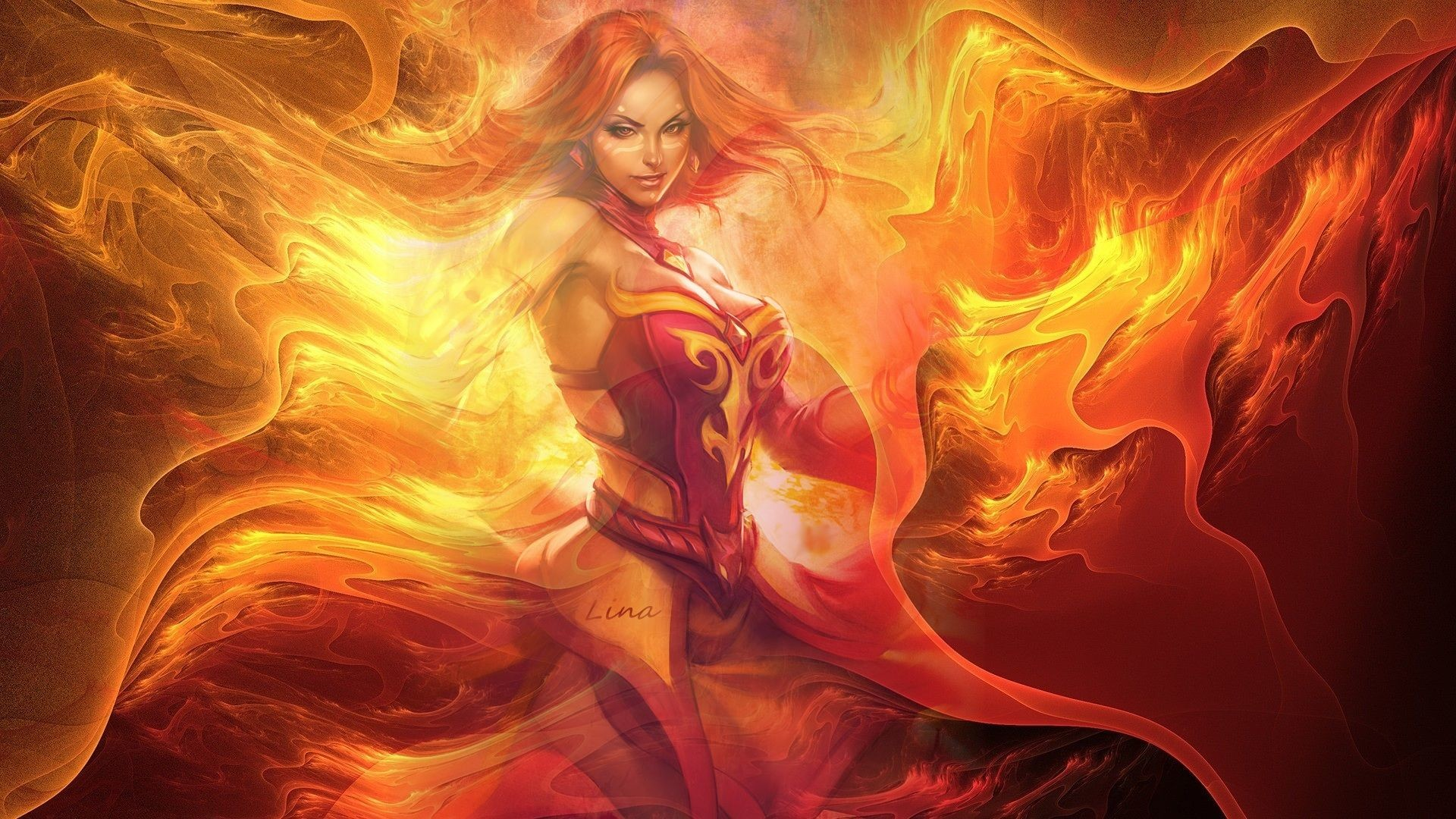 1920x1080 Dota 2 Lina Slayer Pictures Wallpaper