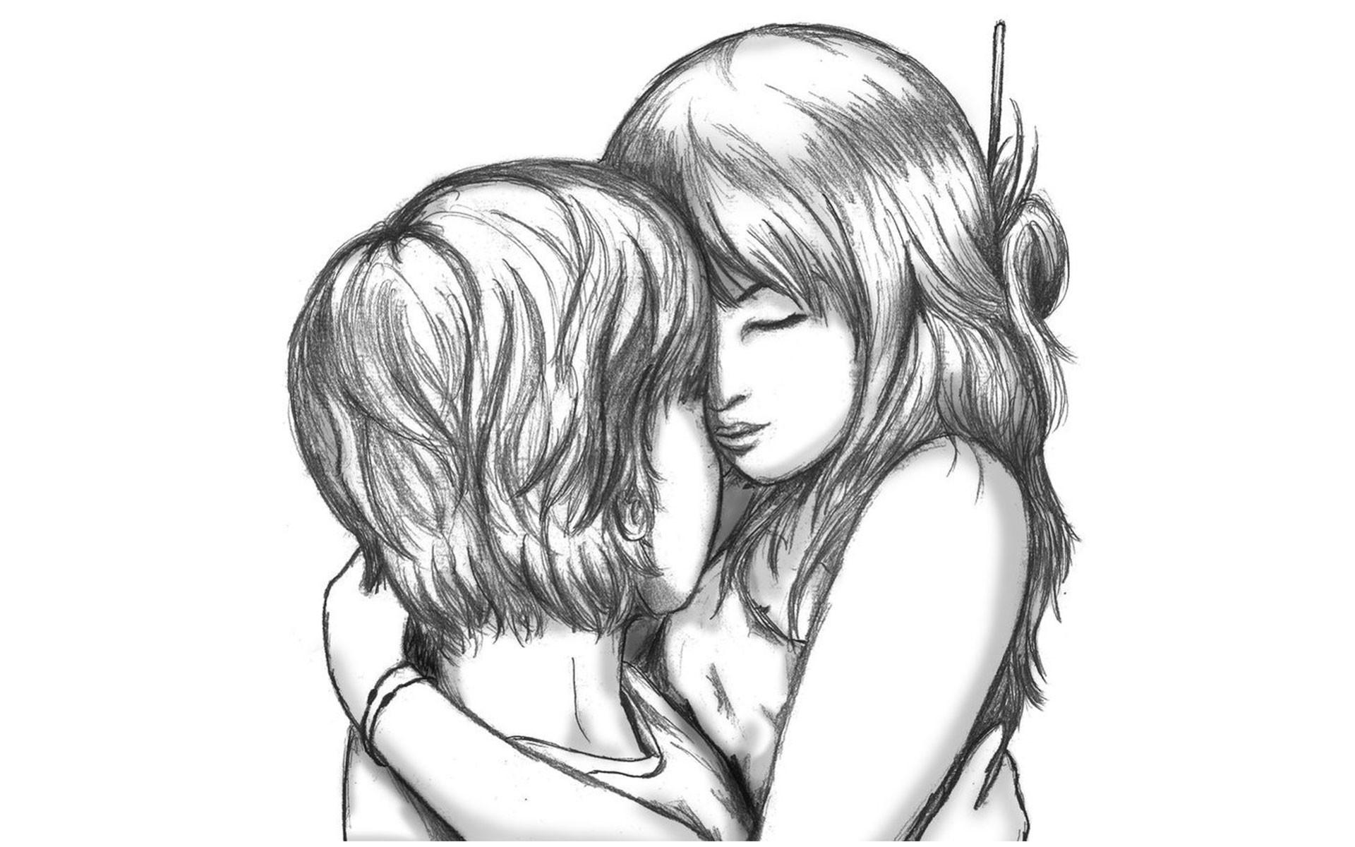 Love drawings pencil art hd romantic sketch wallpaper download · 1920x1080 standard