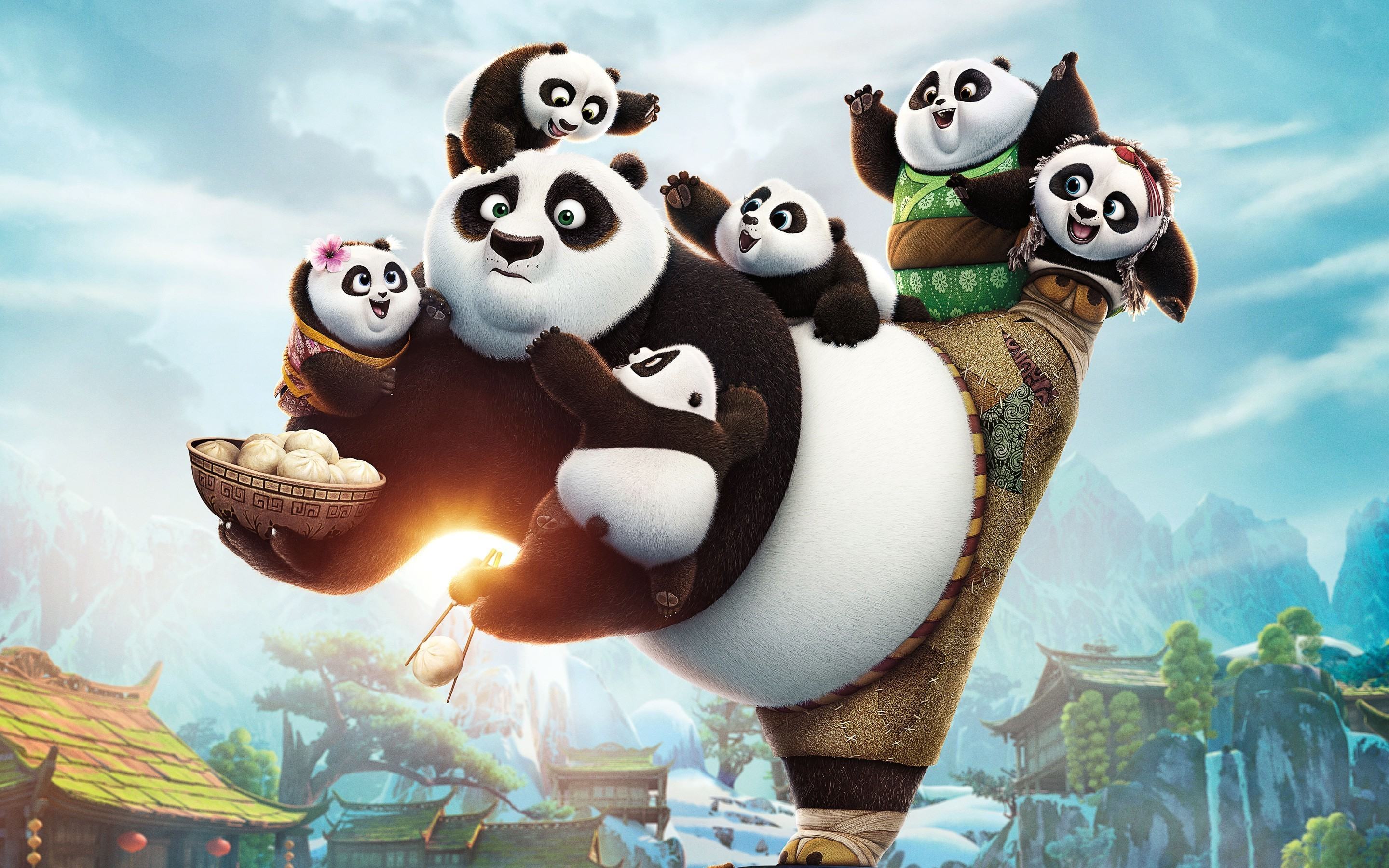 2880x1800 kung Fu Panda 3, Movies, Artwork Wallpapers HD / Desktop and Mobile  Backgrounds