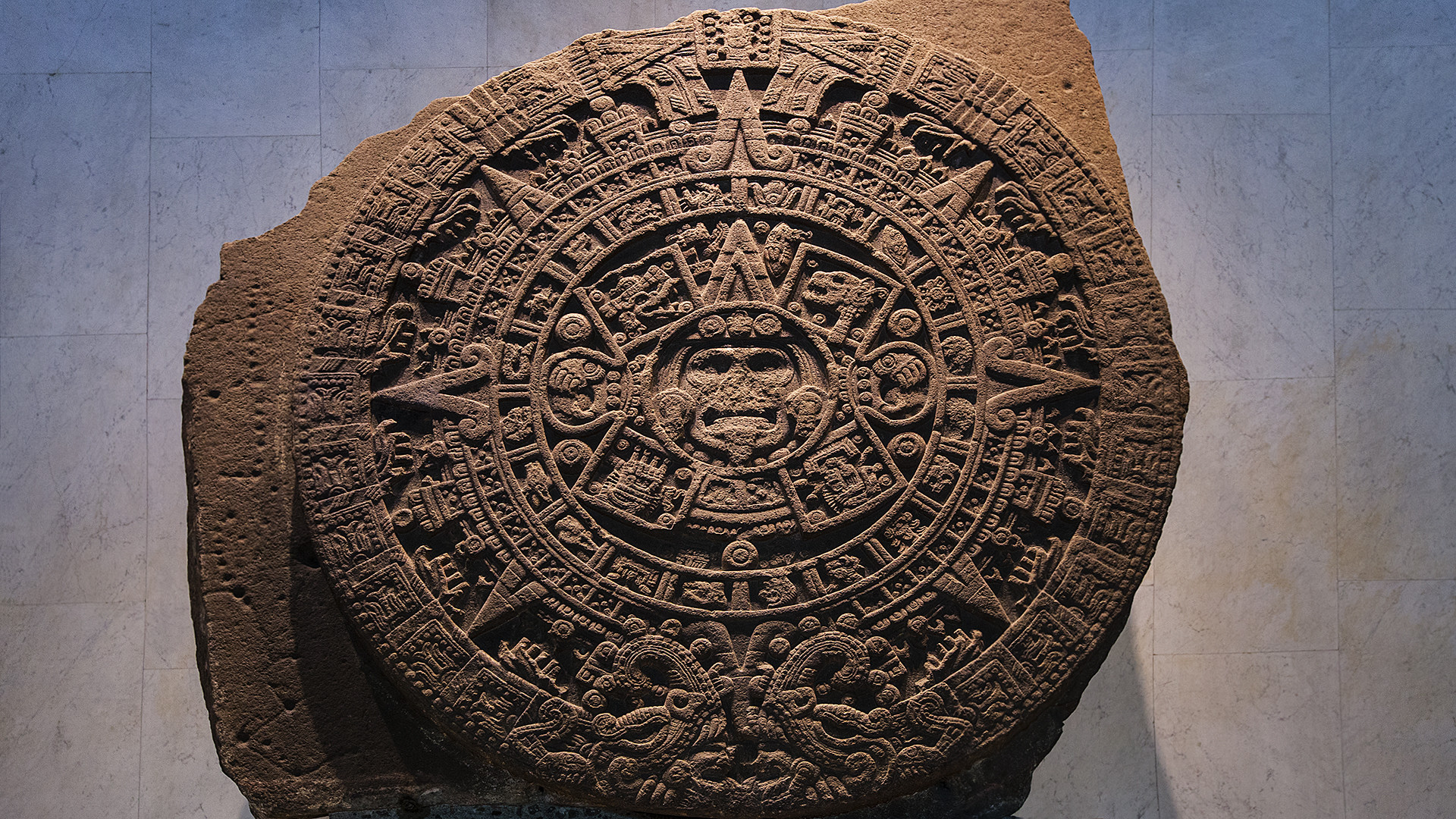 1920x1080 File:Aztec calendar stone in National Museum of Anthropology, Mexico  City.jpg