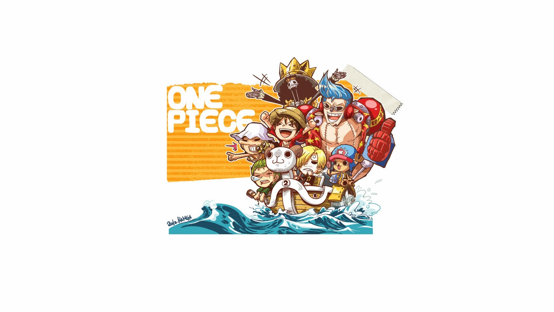 1920x1080 straw hats mugiwara pirates zoro usopp luffy sanji chopper franky brook one  piece anime chibi
