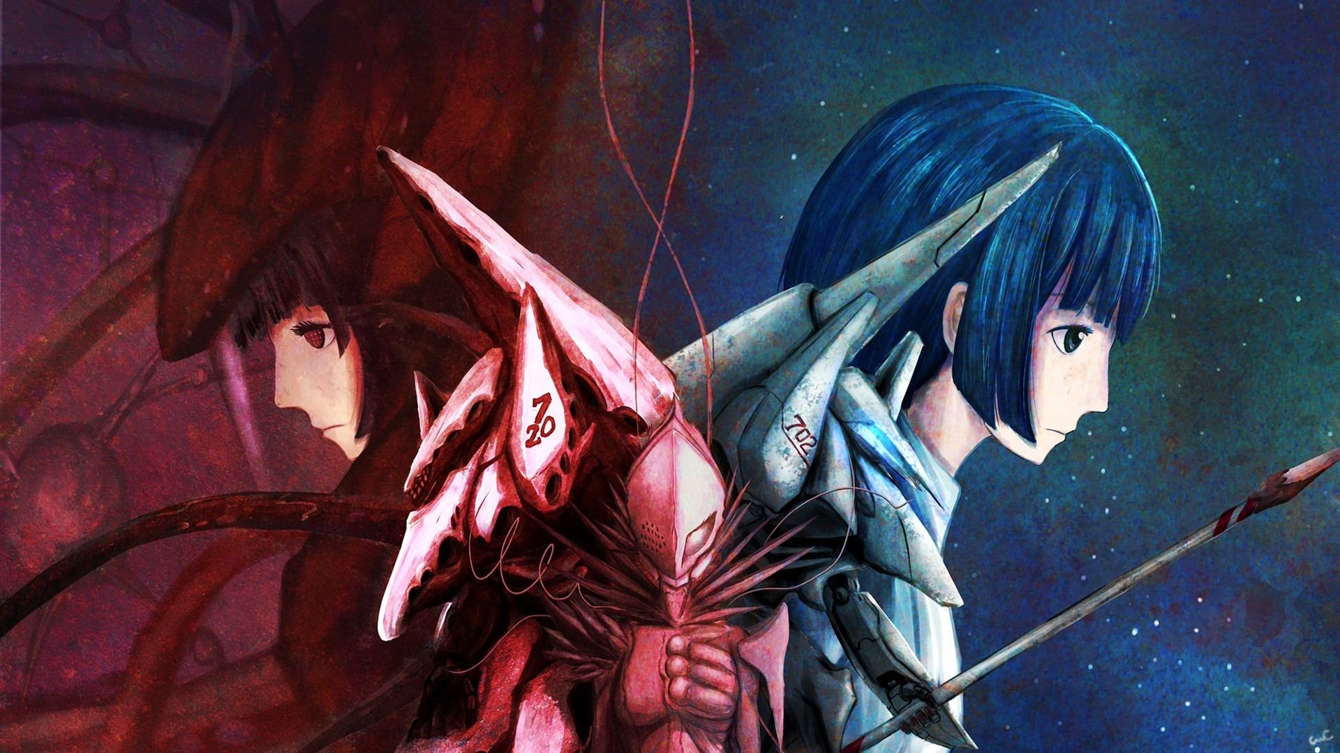 1920x1080 Preview wallpaper knights of sidonia, tanikaze, art, anime