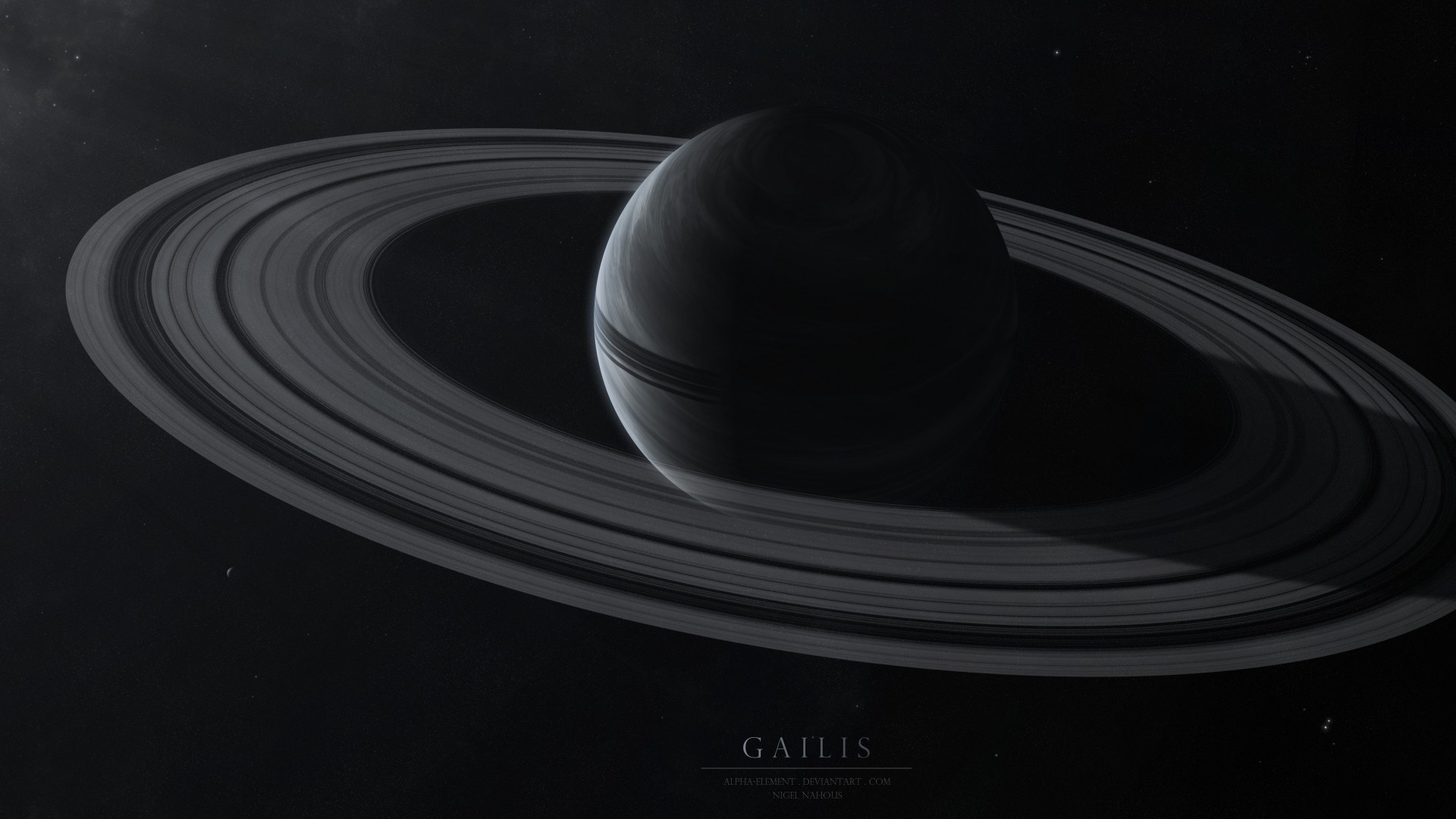 1920x1080 ... Background Full HD 1080p.  Wallpaper gailis, planet, rings,  stars, space