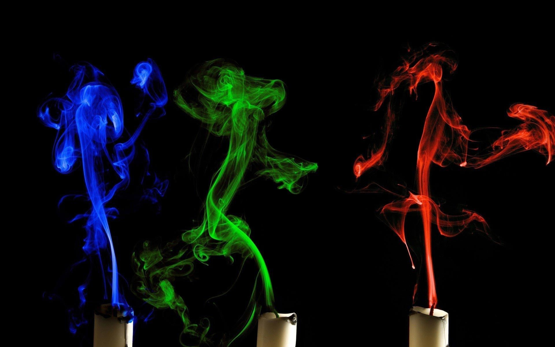 1920x1200 colorful candle smoke wallpaper