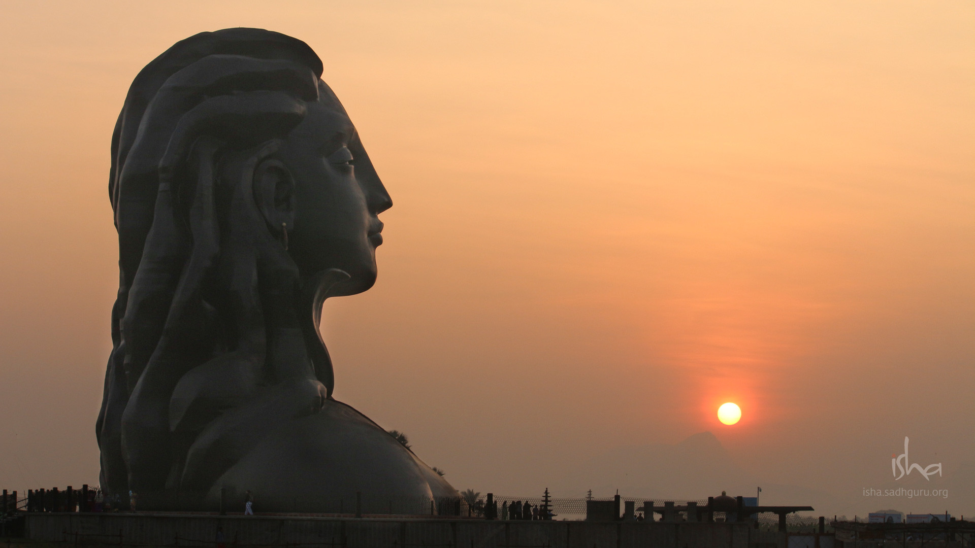 1920x1080 Mahashivratri Images - The Adiyogi During Sunrise HD