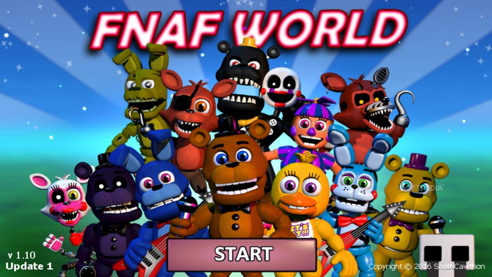 1920x1080 FNaF World - You can start playing right away from the main menu.