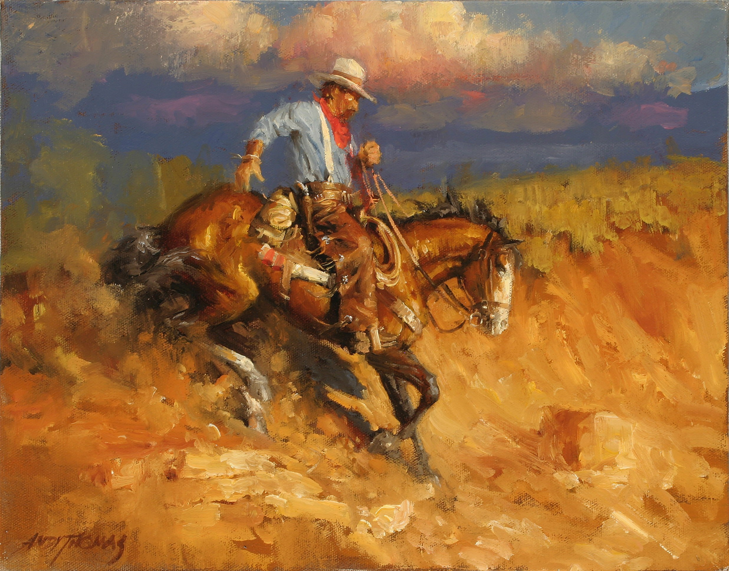 2472x1936 Andy thomas. Cowboy ArtworkCowboys And IndiansWallpaper ...