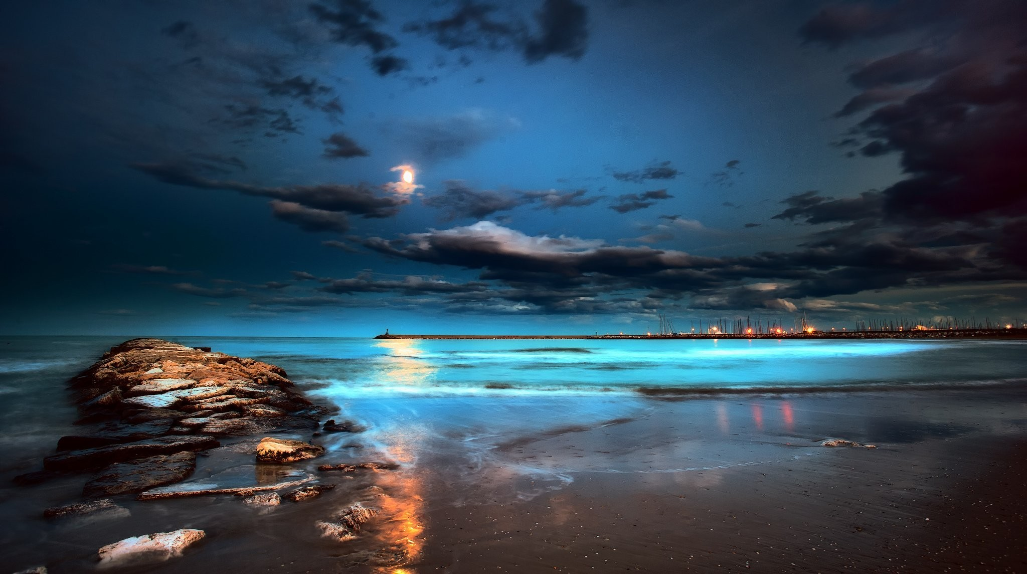 beach at night wallpaper (75+ images)