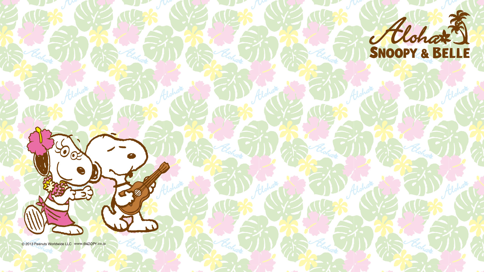 1920x1080 Aloha Snoopy and Belle