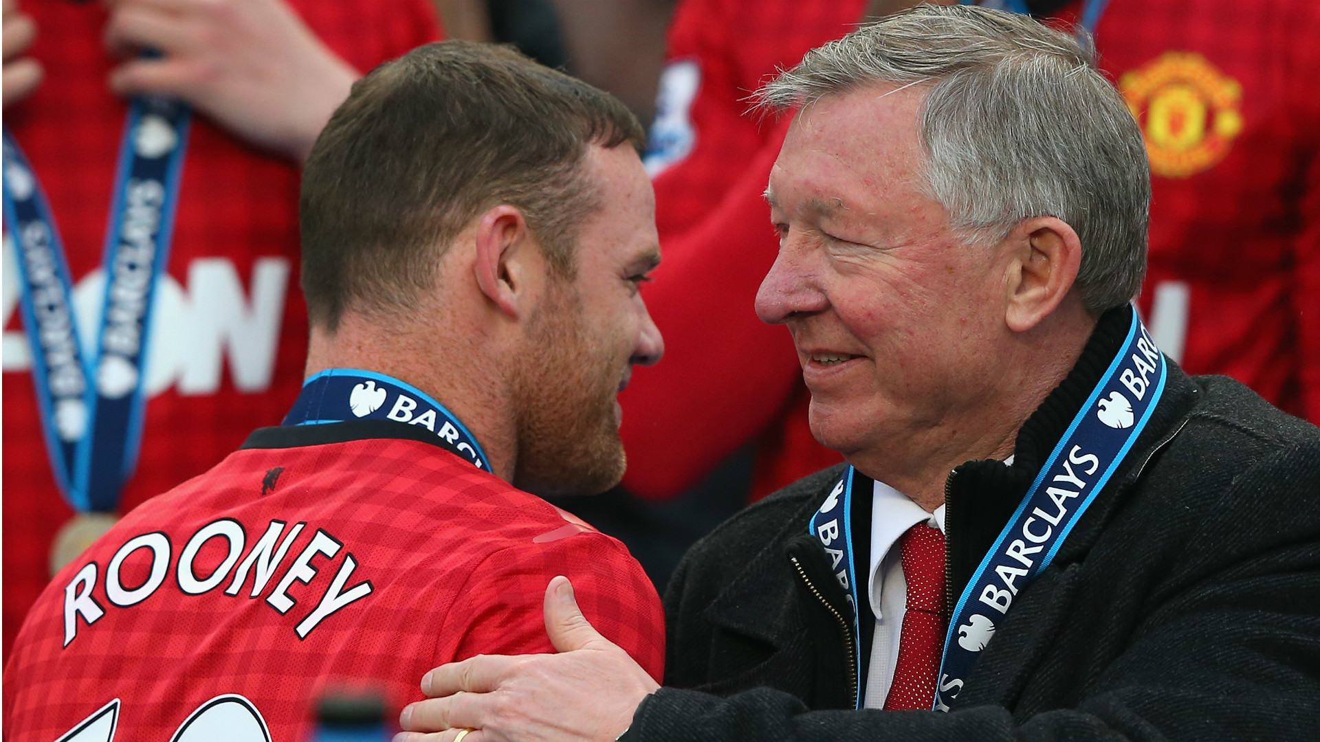 1920x1080 Wayne Rooney Alex Ferguson Manchester United Premier League 120513