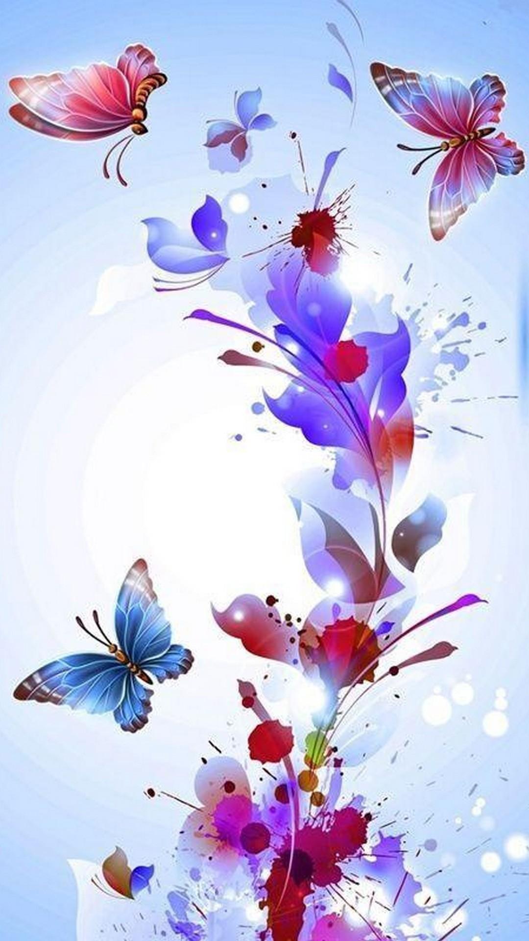 Pink Butterflies Wallpaper 69 Images