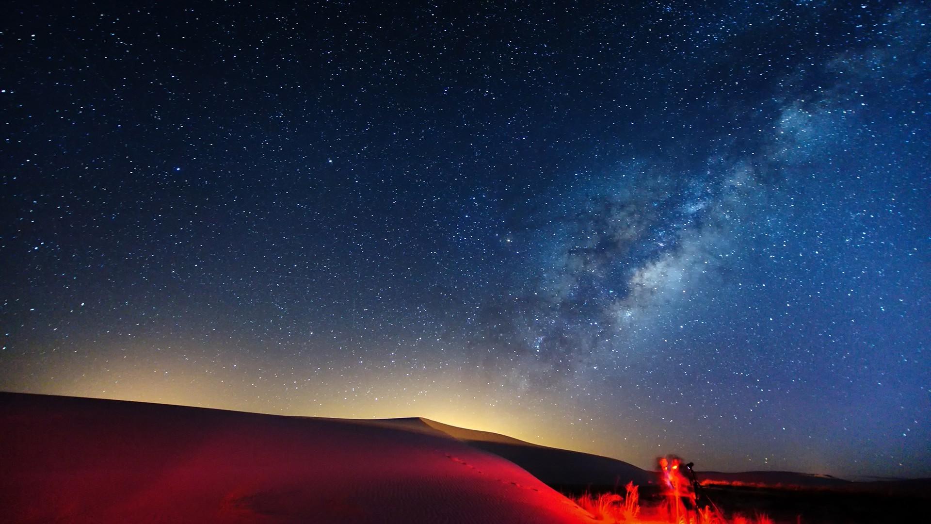 Milky Way Galaxy From Earth Wallpaper Hd Water World