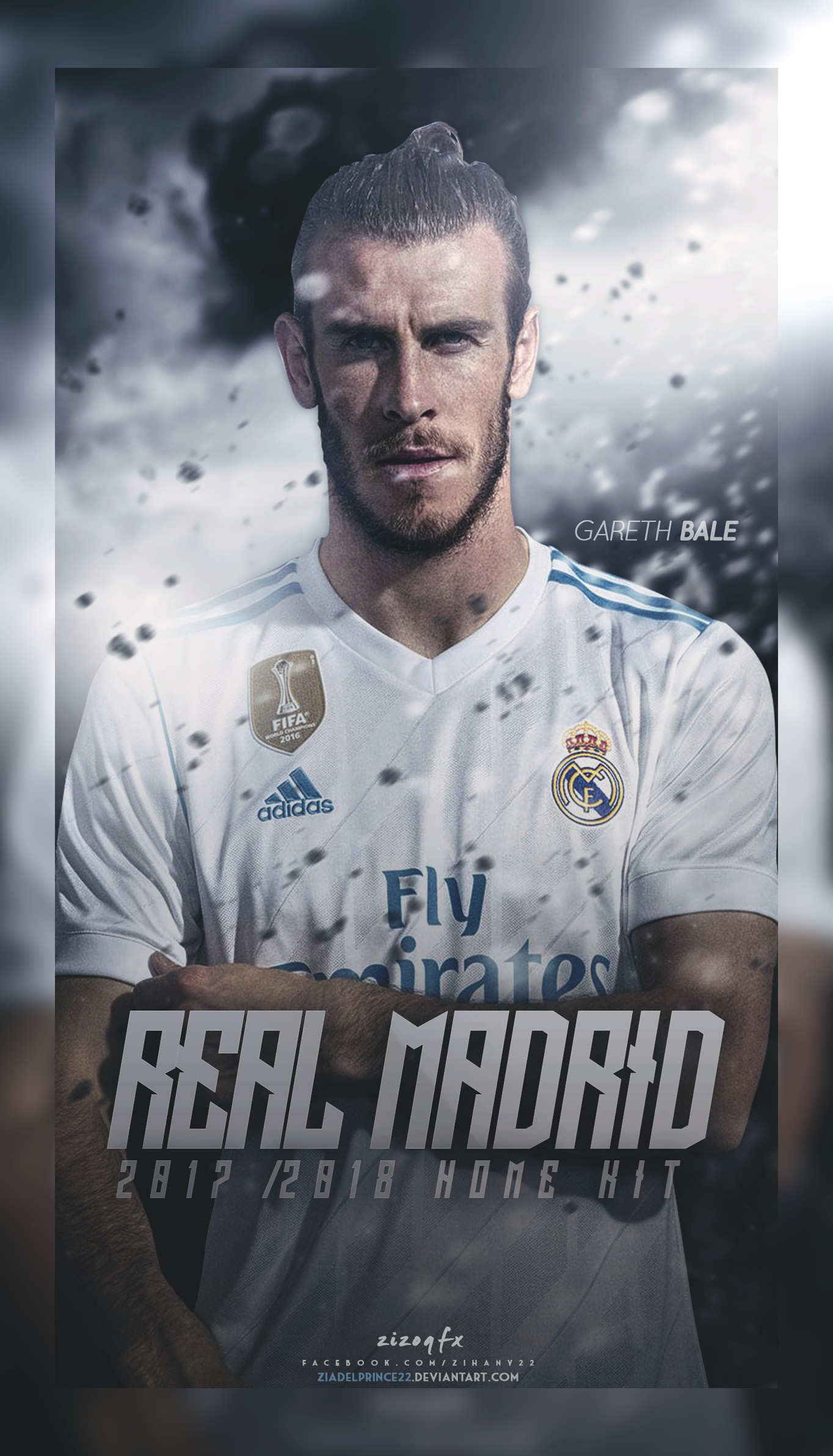 1364x2382 Real Madrid 2017/2018 Home kit poster by Ziadelprince22 on DeviantArt