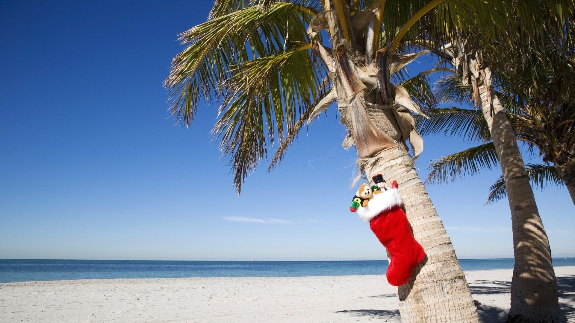 merry christmas beach facebook cover