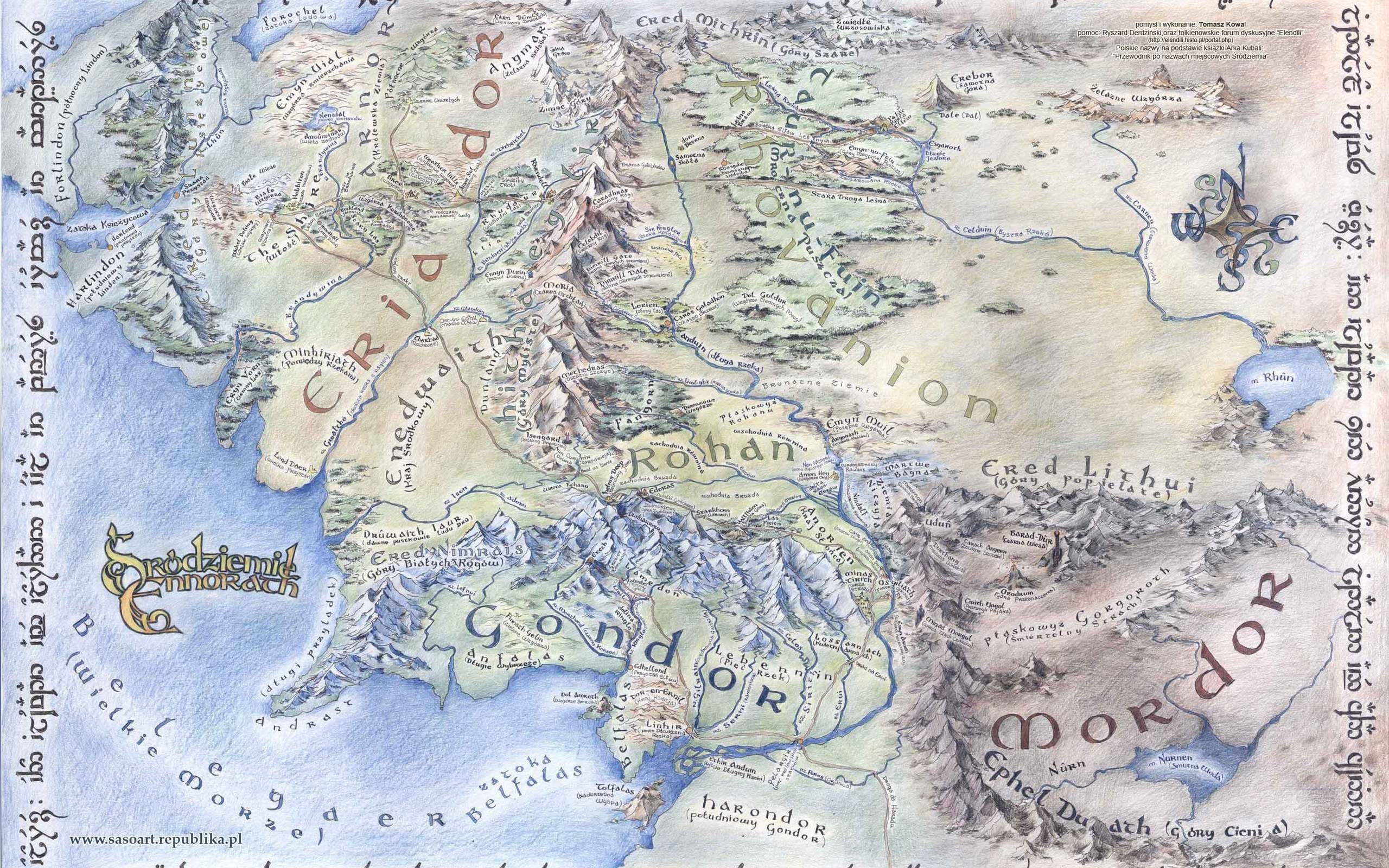Map Of Middle Earth Wallpaper 42 Images