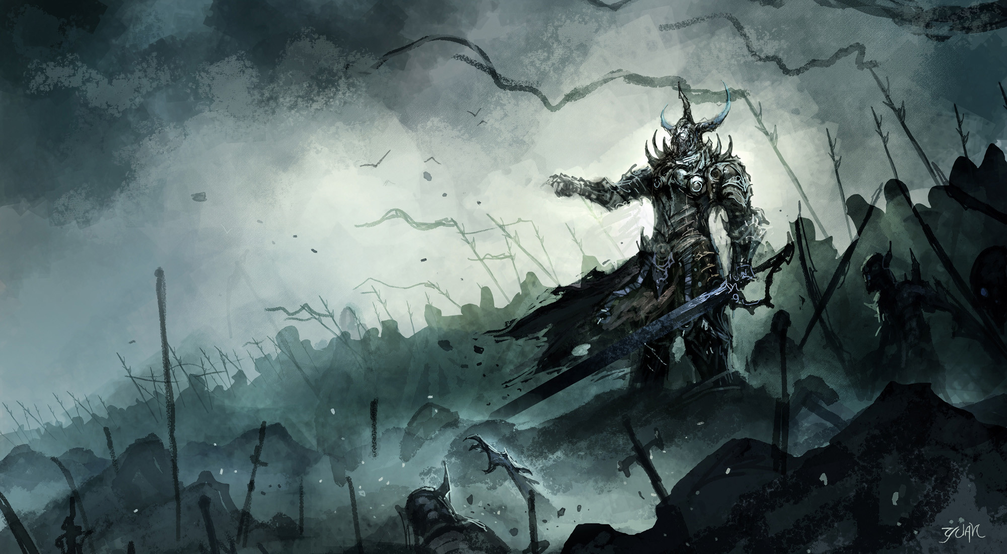 2000x1102  Epic dark fantasy wallpapers - photo#7