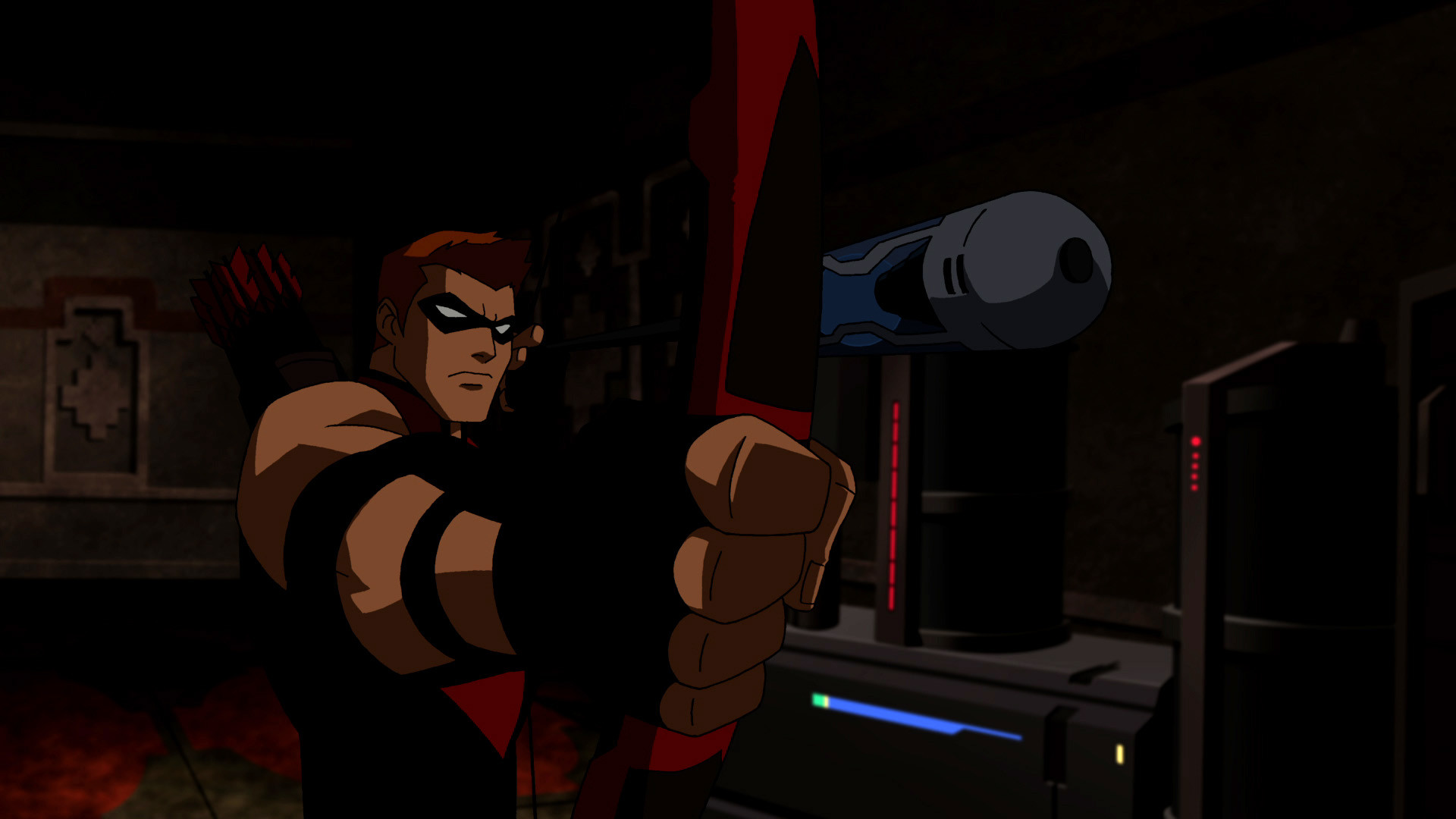 1920x1080 Young Justice: Nightwing/Robin vs Red Arrow/Arsenal
