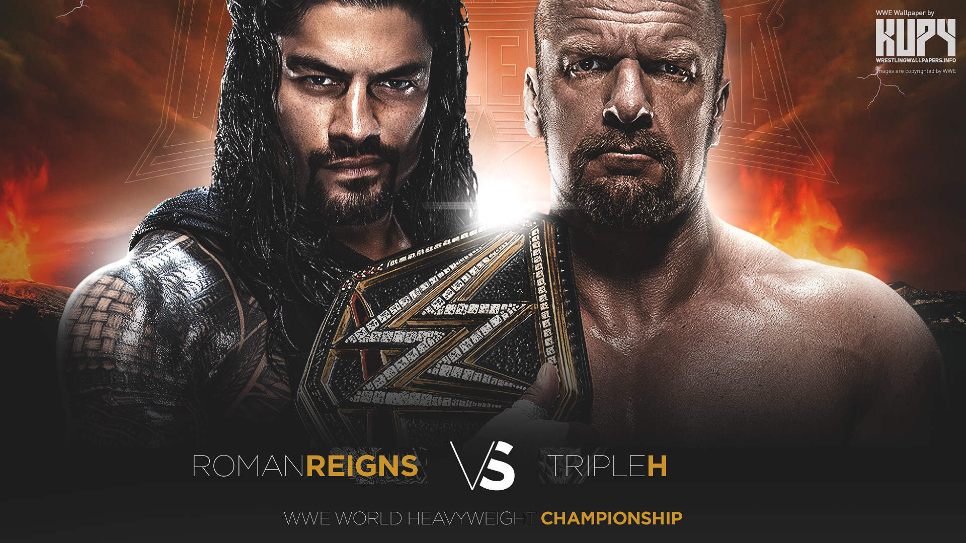 1920x1080 Roman Reigns WWE World Heavyweight Championship match WrestleMania 32  wallpaper 1920×1200 | 1920×1080 ...