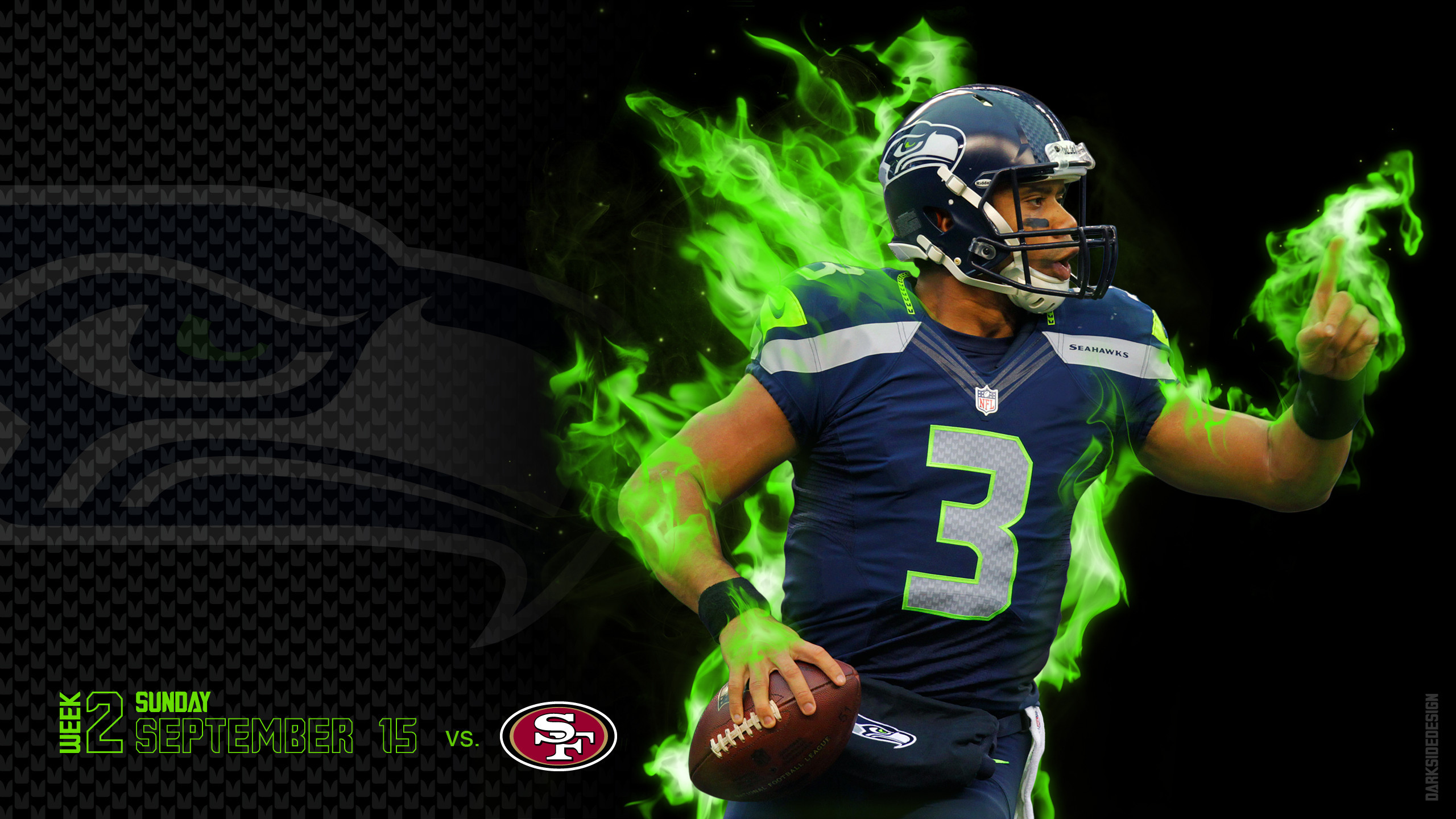 2560x1440 Seattle Seahawk Background Desktop.