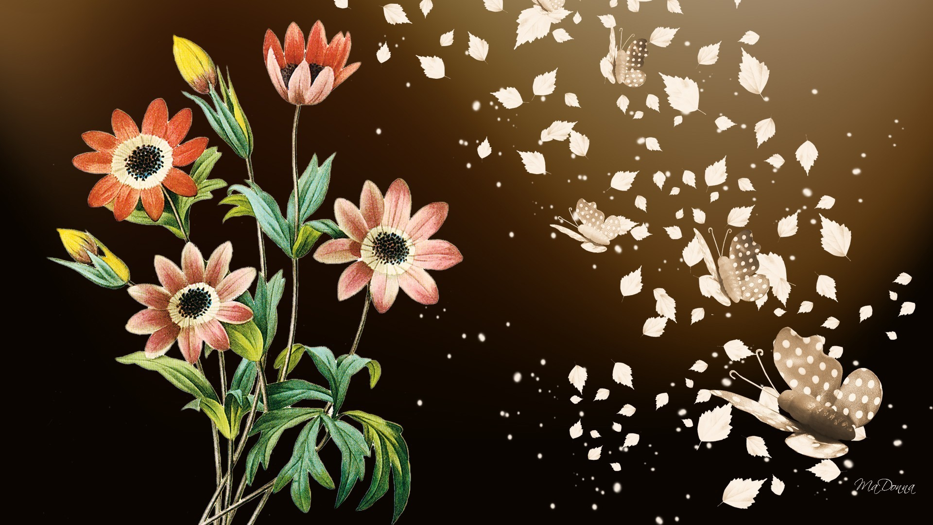 abstract flowers wallpaper (66+ images)