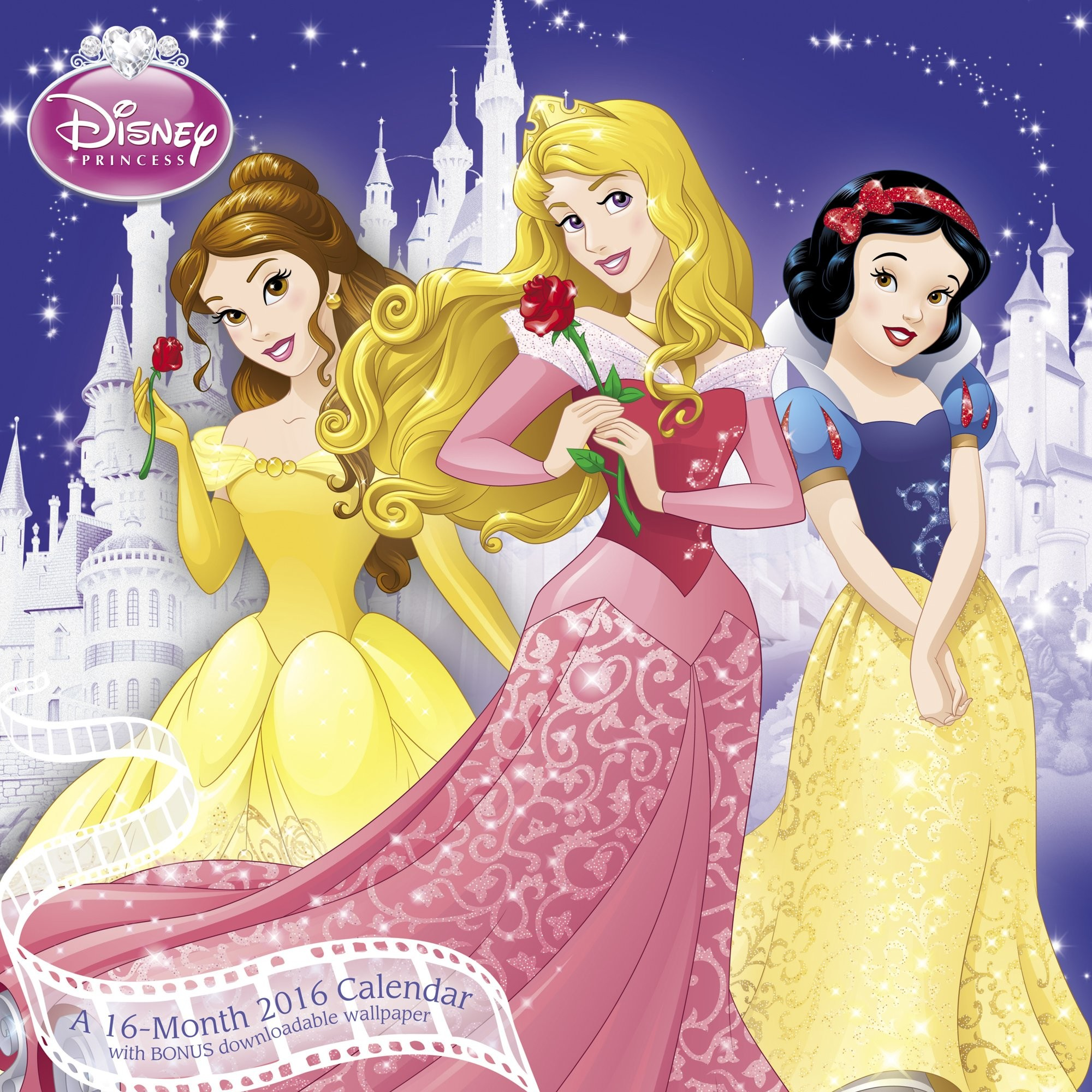 2000x2000 Disney Princess Wall Calendar (2016): Mead: 0038576364769: Amazon.com: Books